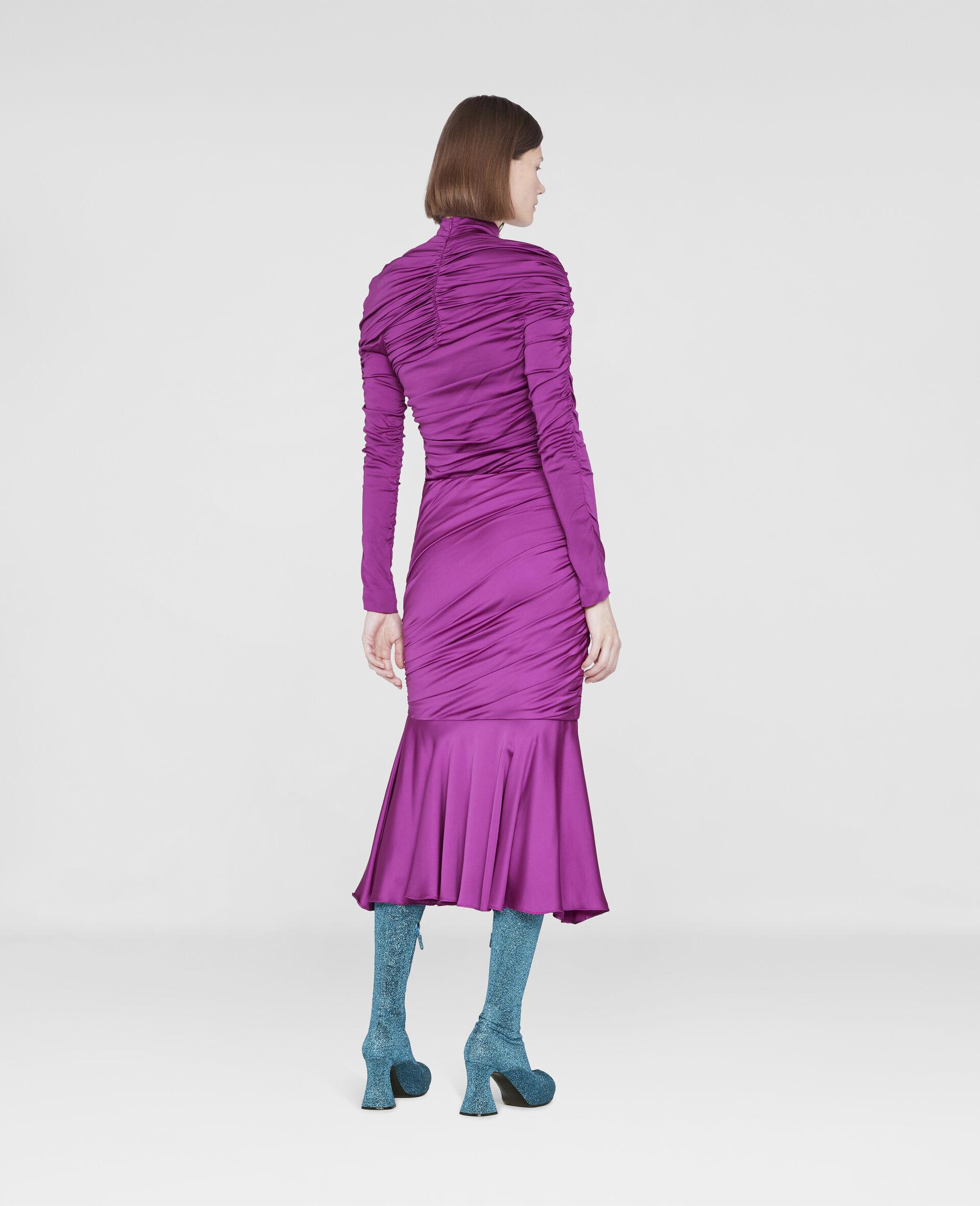 Henley Ruched Godet Skirt-Purple-large image number 2