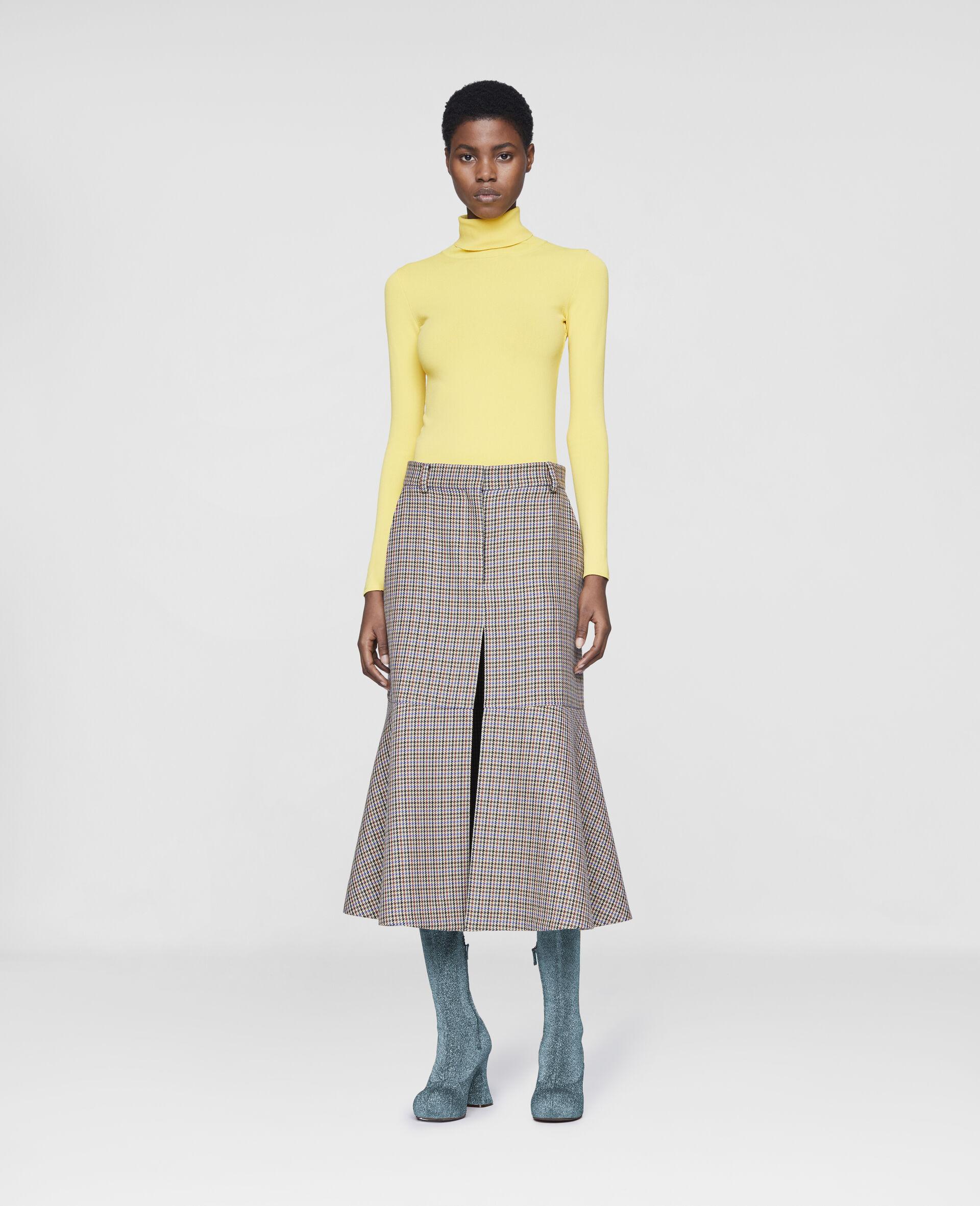 Naomi Wool Skirt-Beige-large image number 1