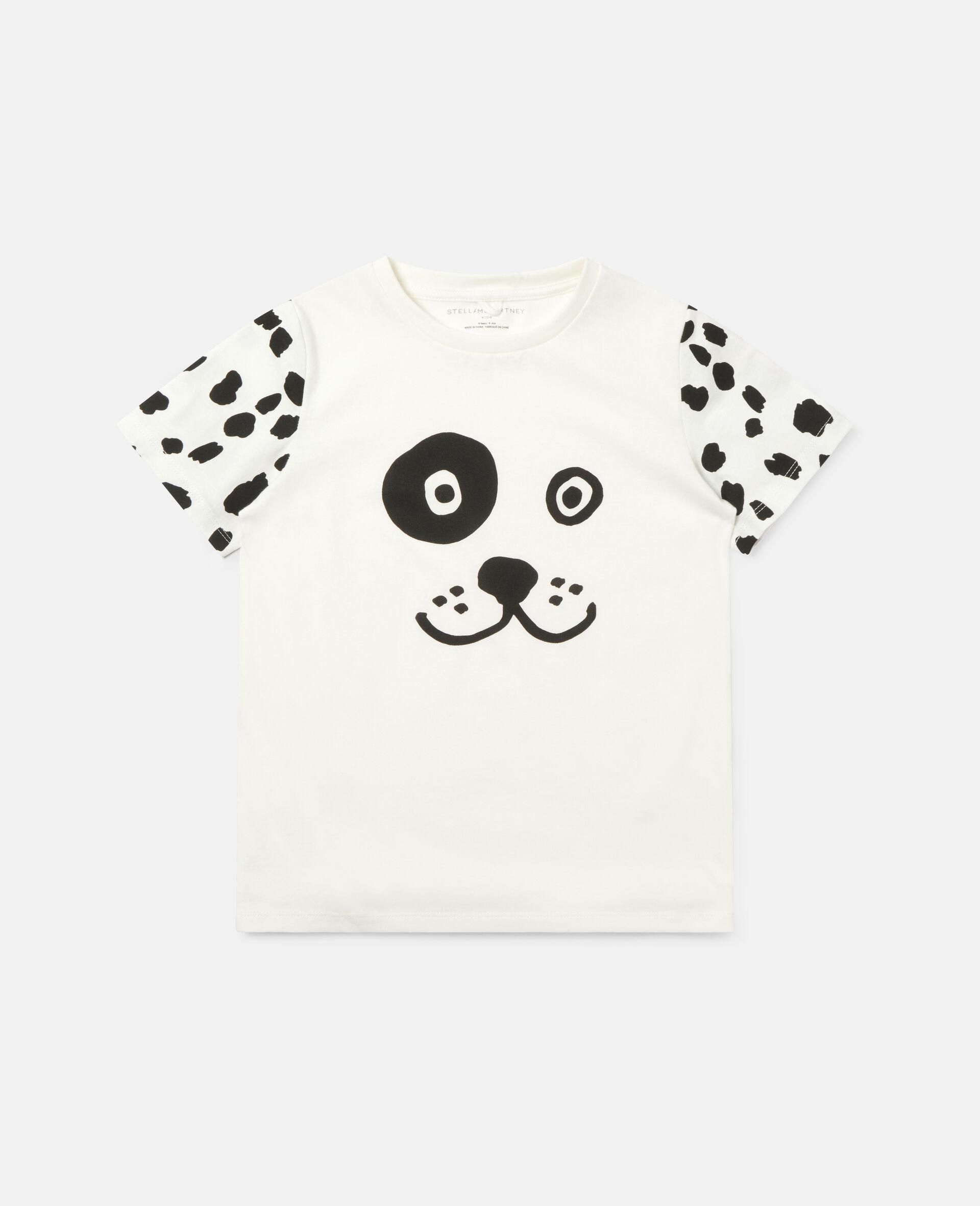 Dalmatian Cotton T-shirt -White-large image number 0