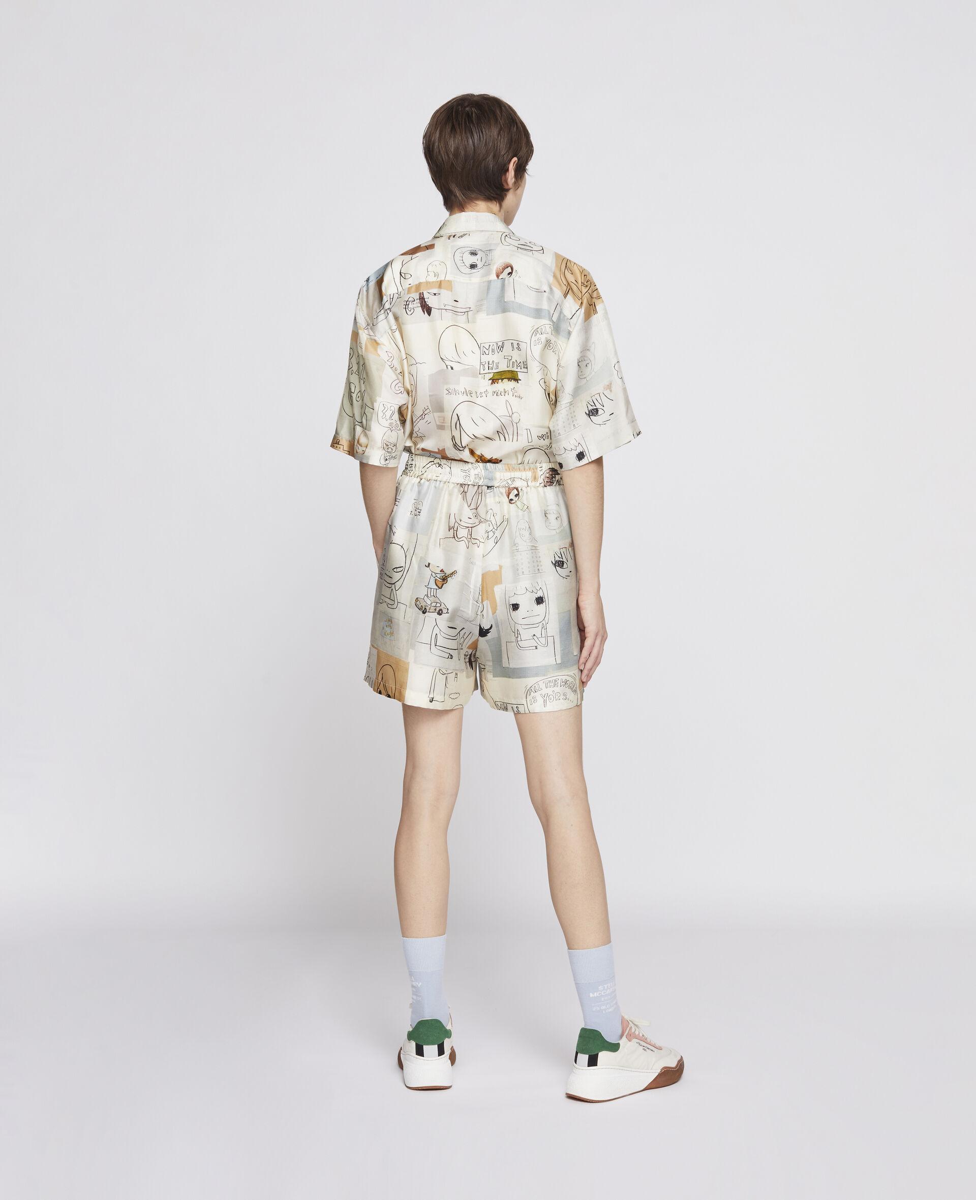 Nara Timothy Silk Shorts-Multicolour-large image number 2