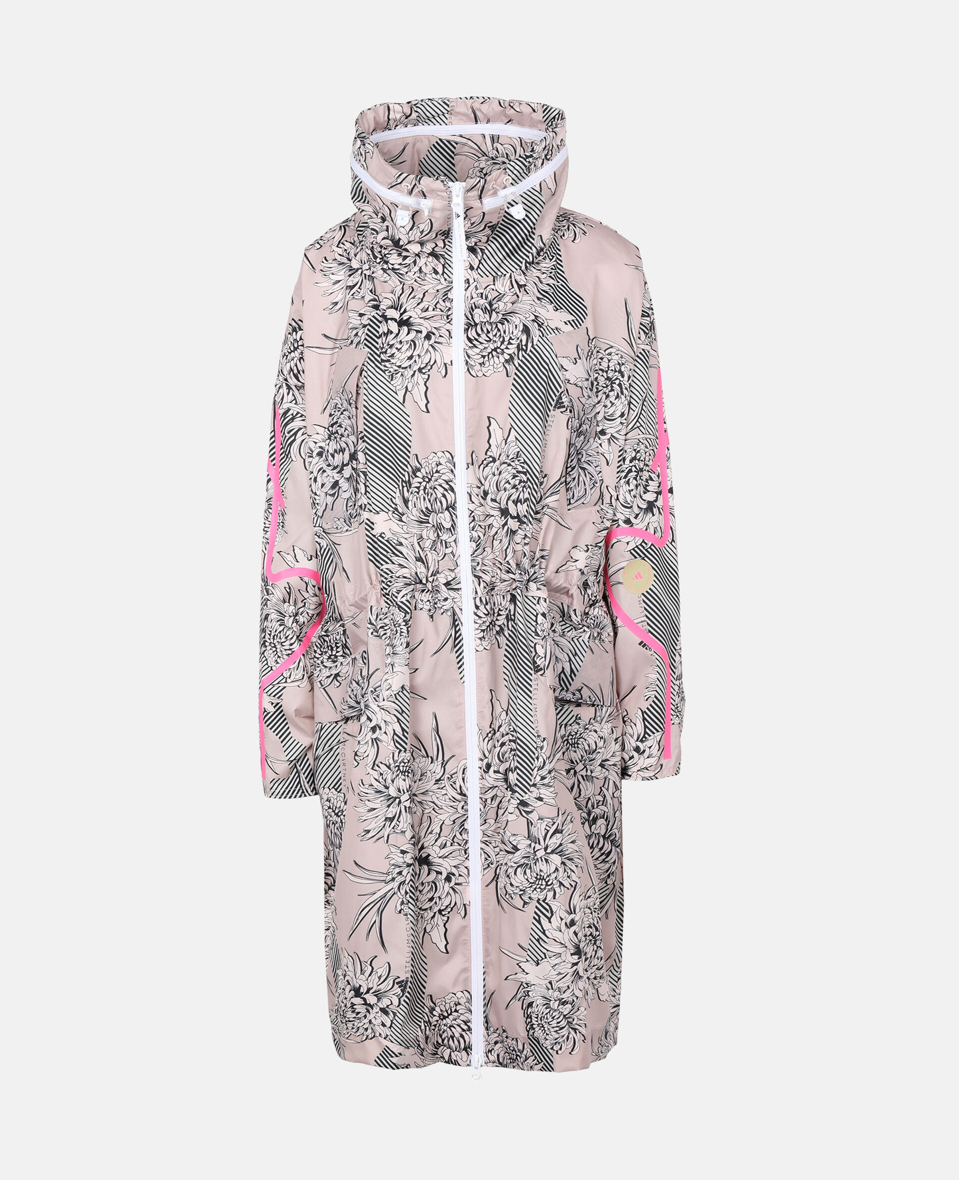 Pink Long Lightweight Parka-Pink-large image number 0