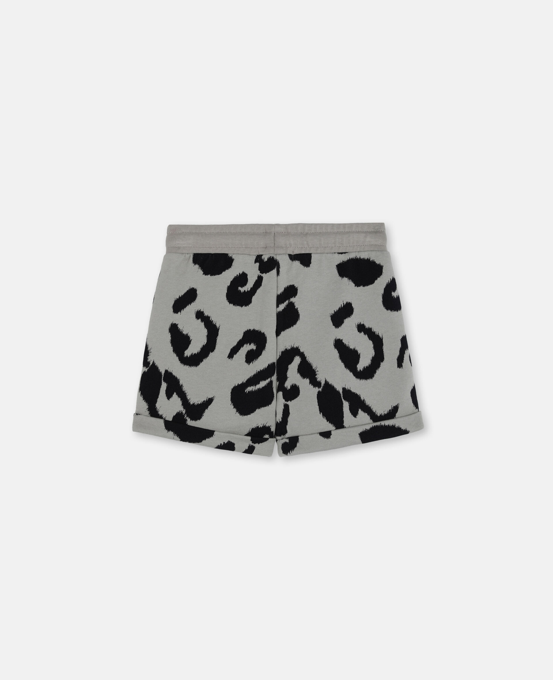 Leopard Cotton Fleece Shorts-Multicoloured-large image number 3