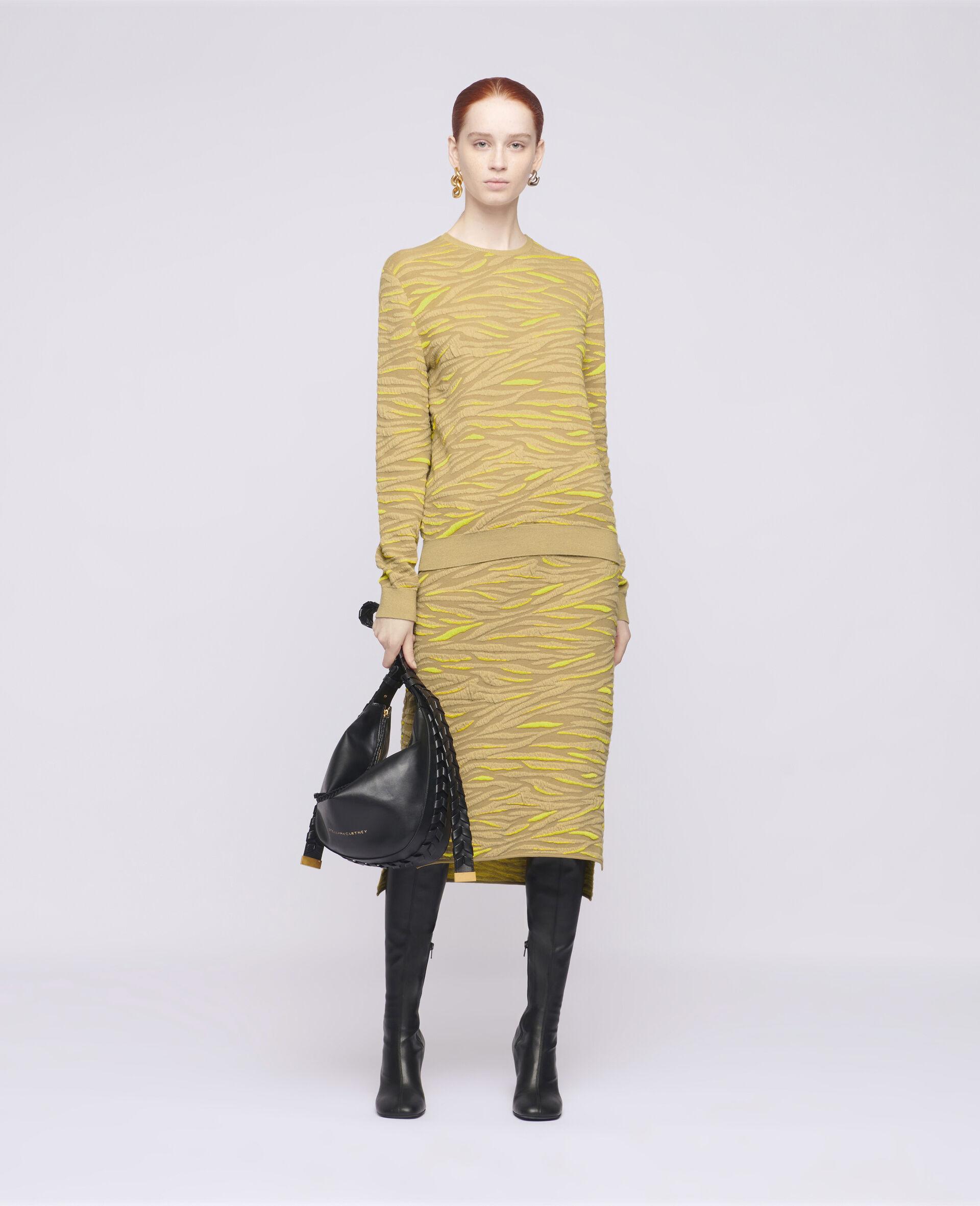 Animal Pattern Sweater-Brown-large image number 1