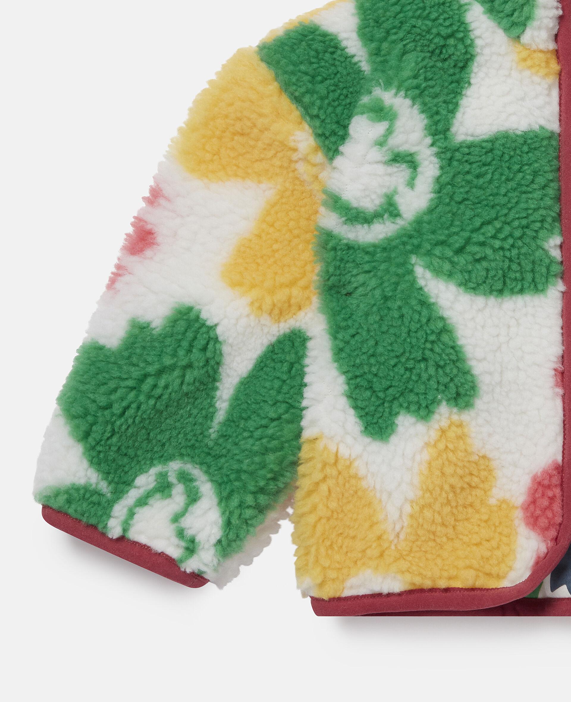 Veste en Teddy motif fleurs souriantes-Fantaisie-large image number 1