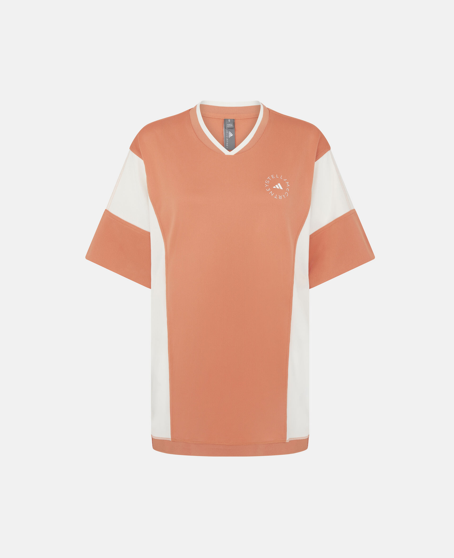 Dusted Clay and White Loose Fit Tee-Orange-large image number 0