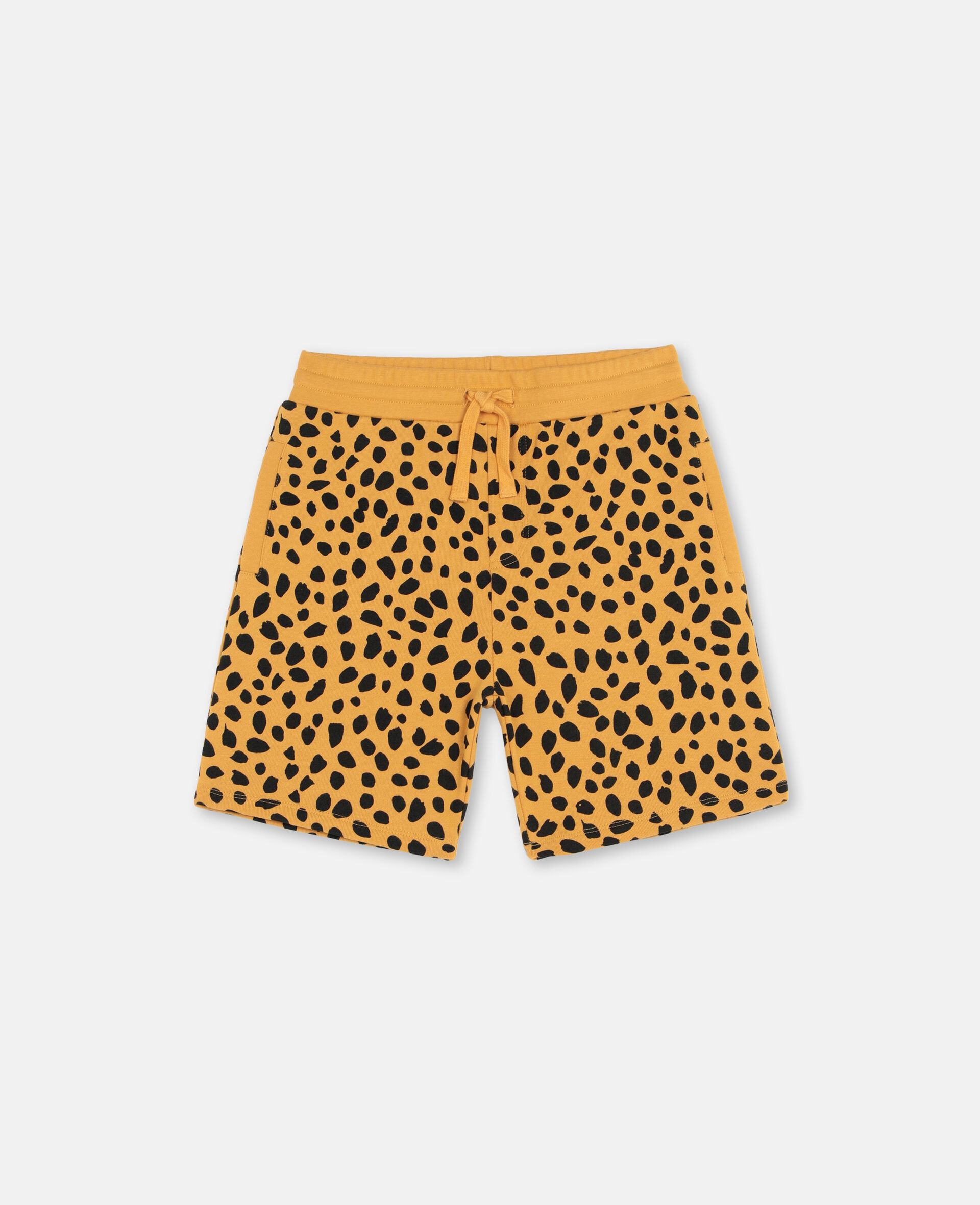 Cheetah Dots Cotton Shorts -Multicoloured-large image number 0