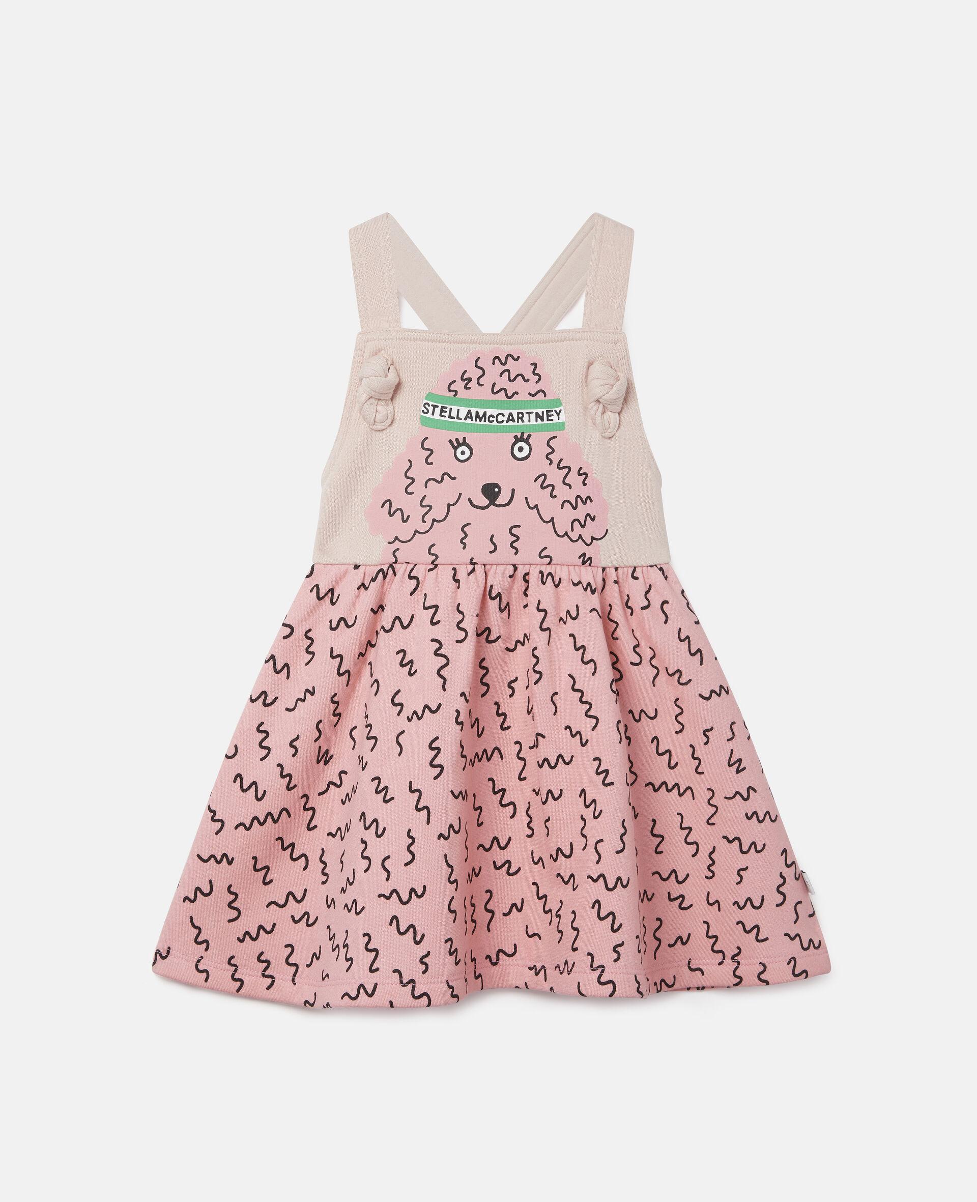 Doodle Poodle Fleece Dress-Pink-large image number 0