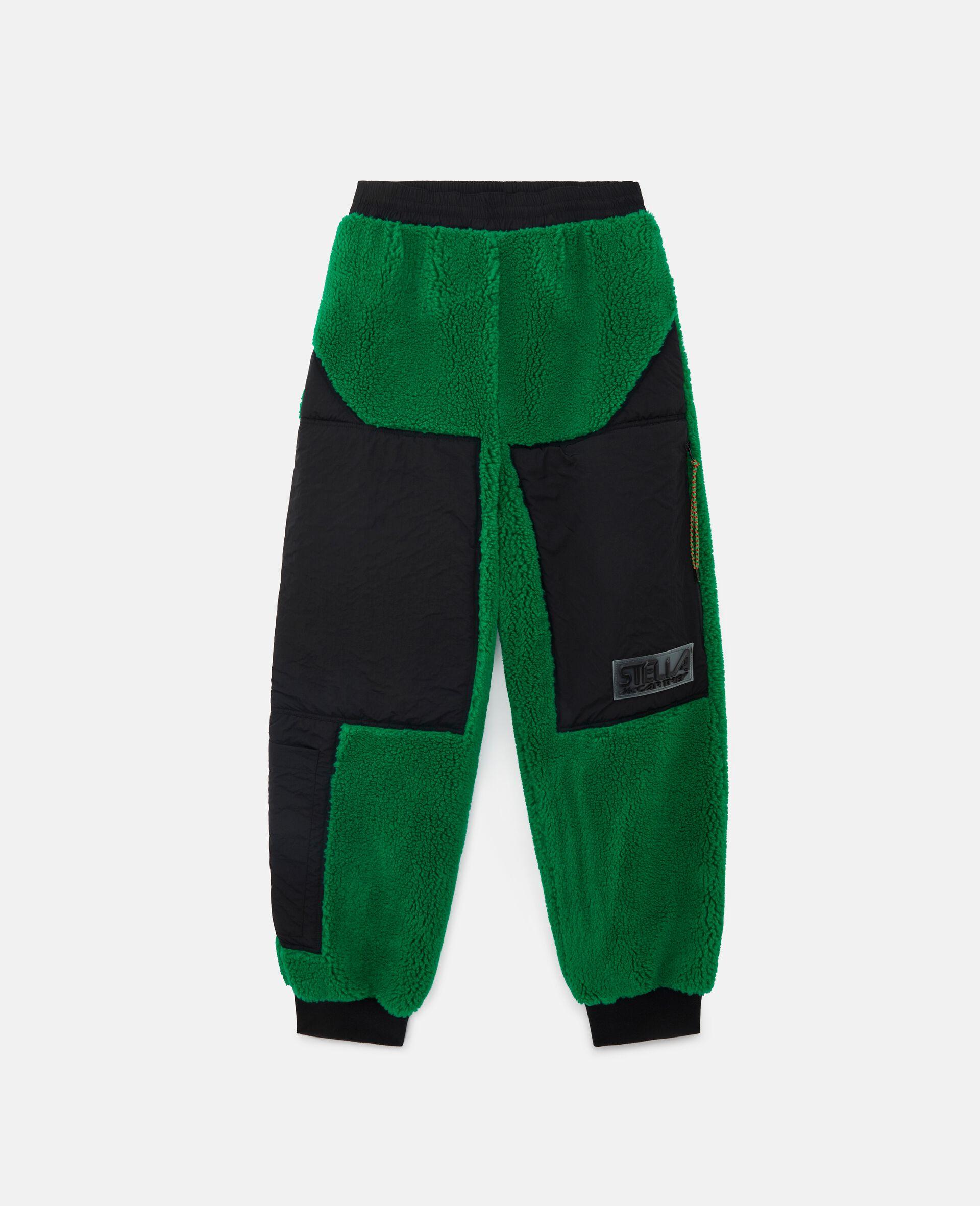 Pantalon en Teddy Mat Kara-Vert-large image number 0