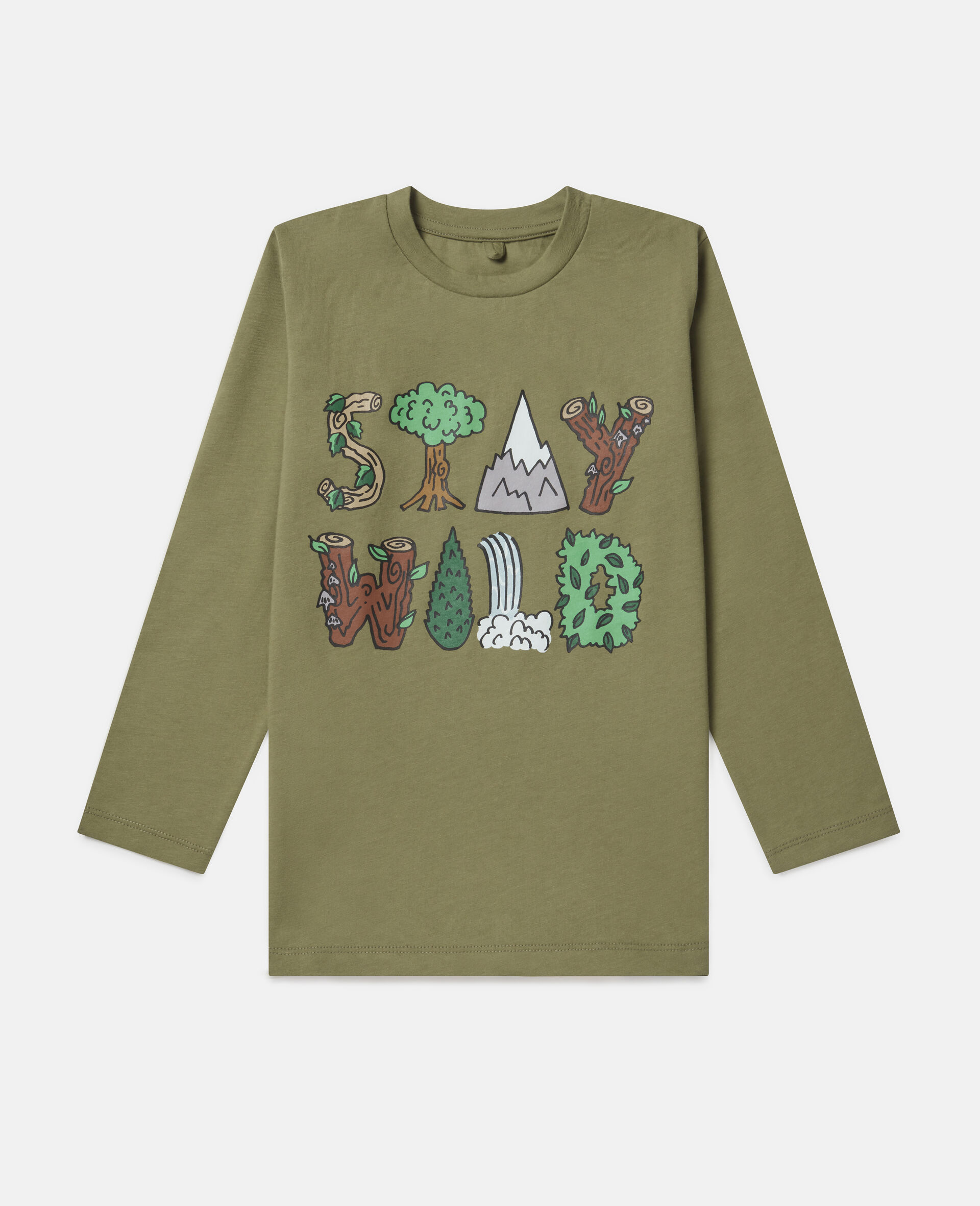 Oversized 'Stay Wild' Top-Green-large image number 0