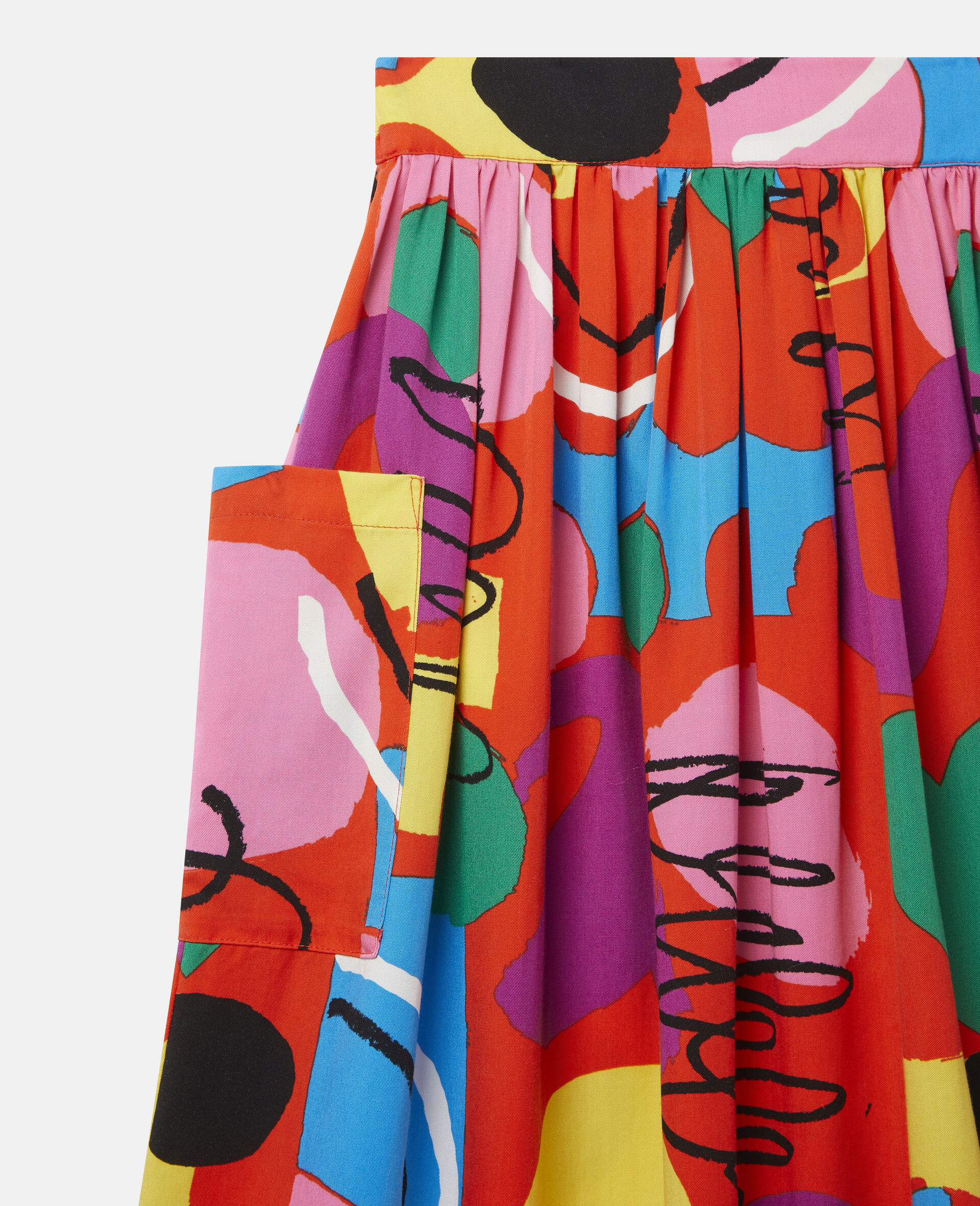 Painting Tencel Twill Skirt-Multicolour-large image number 1