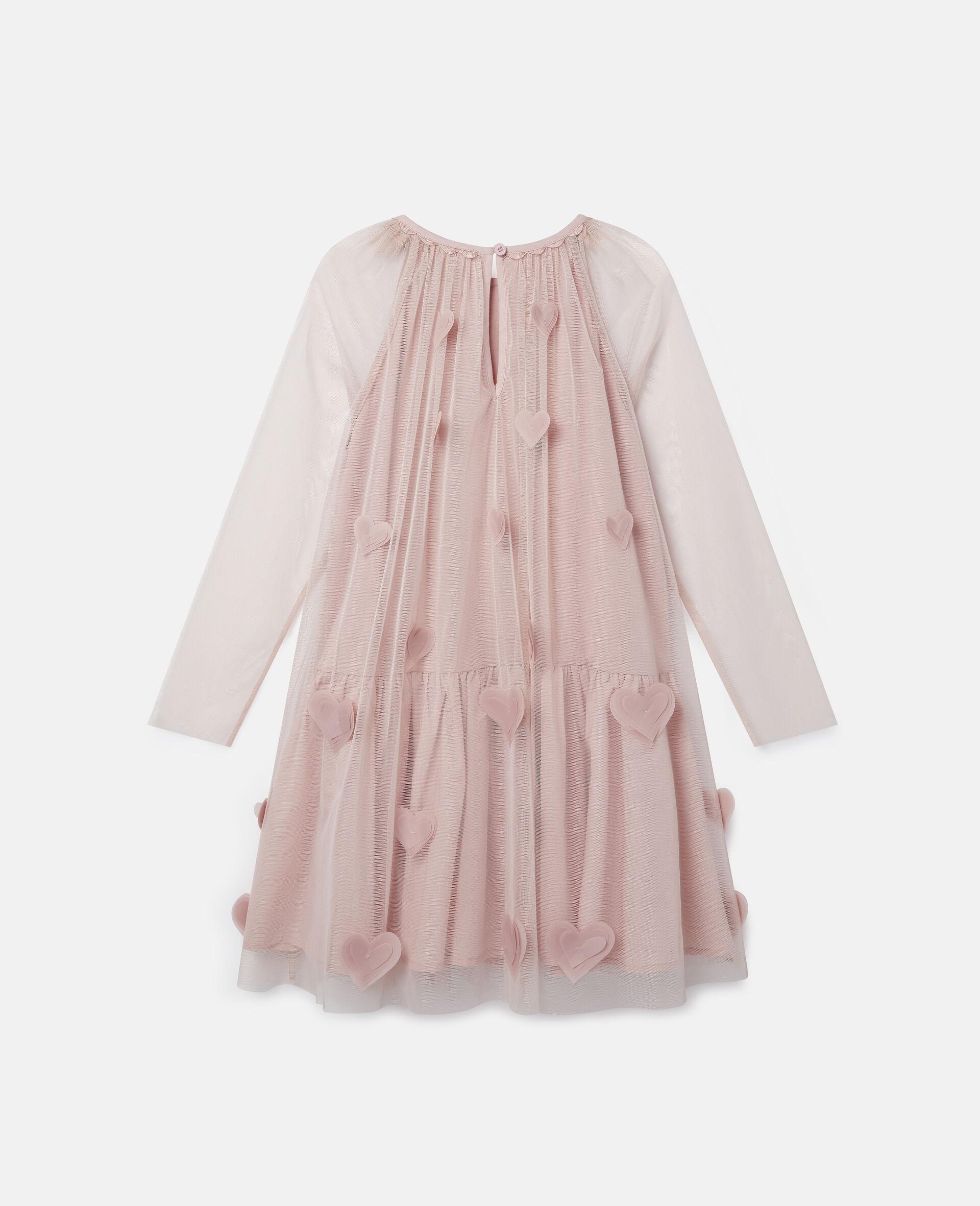3D Hearts Tulle Dress-Pink-large image number 3