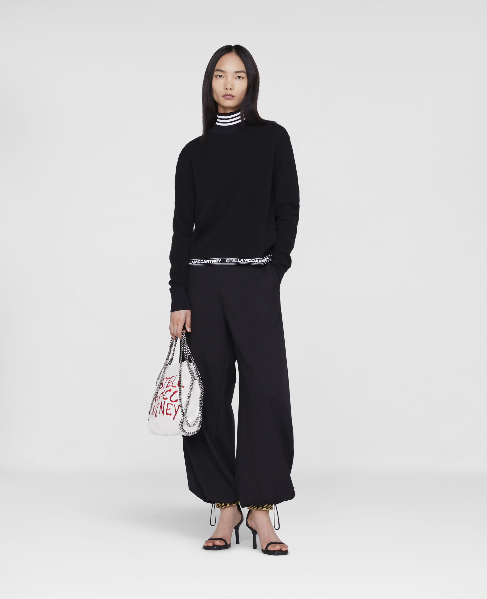 Stella Logo Tailored Trousers -Black-large image number 1