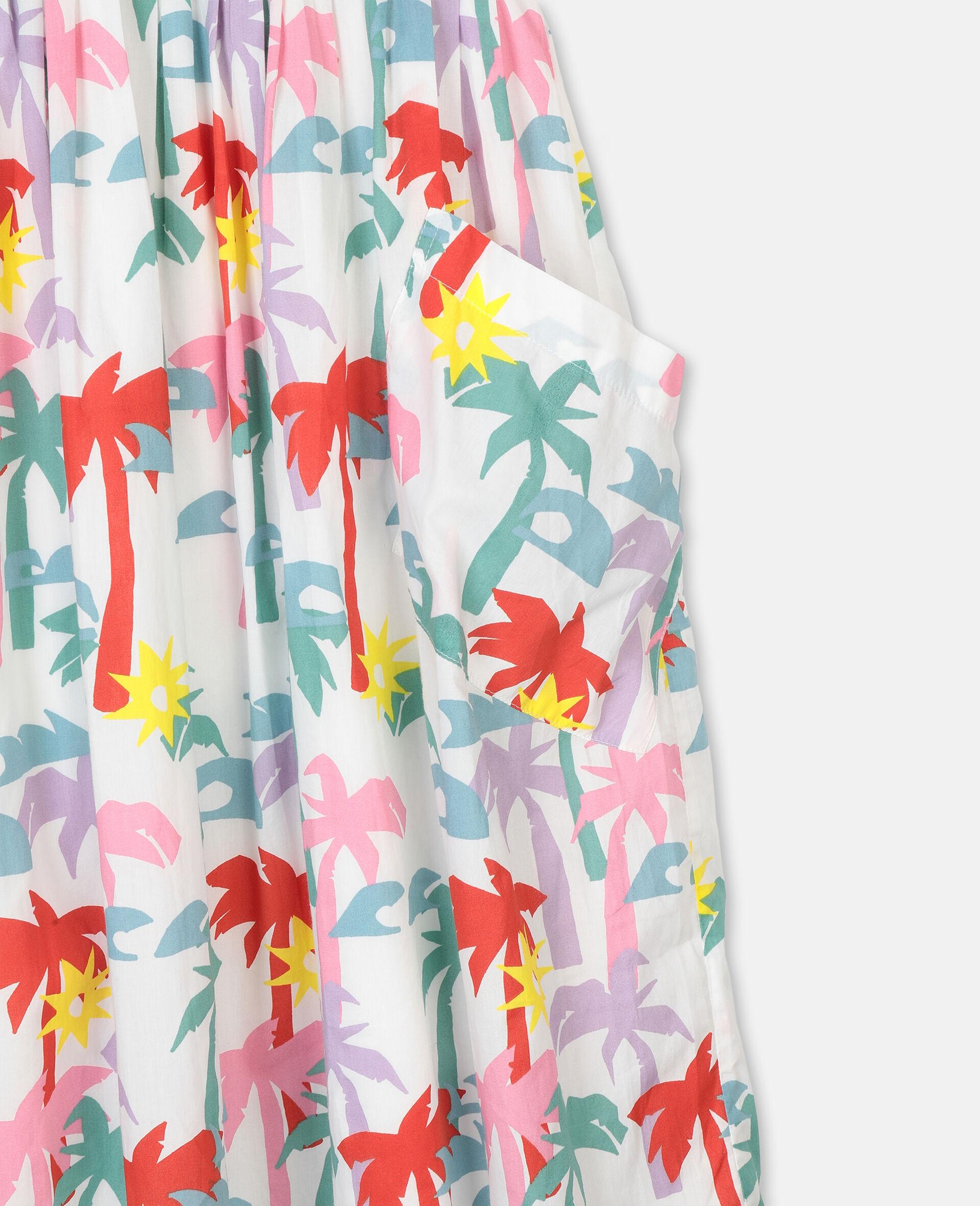 Palms棉质连衣裙-Multicolored-large image number 1