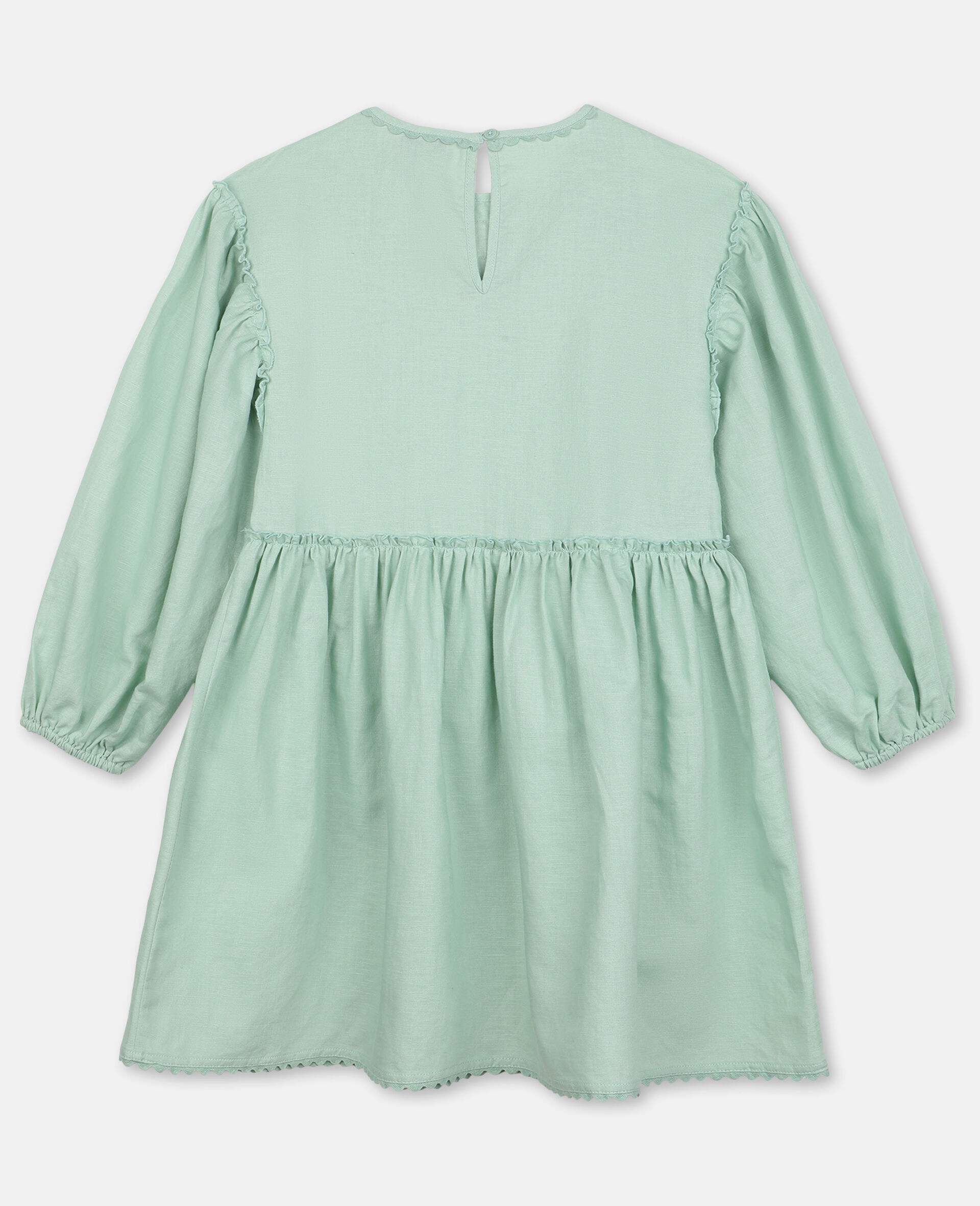 Dress with Butterfly Lace-Green-large image number 3