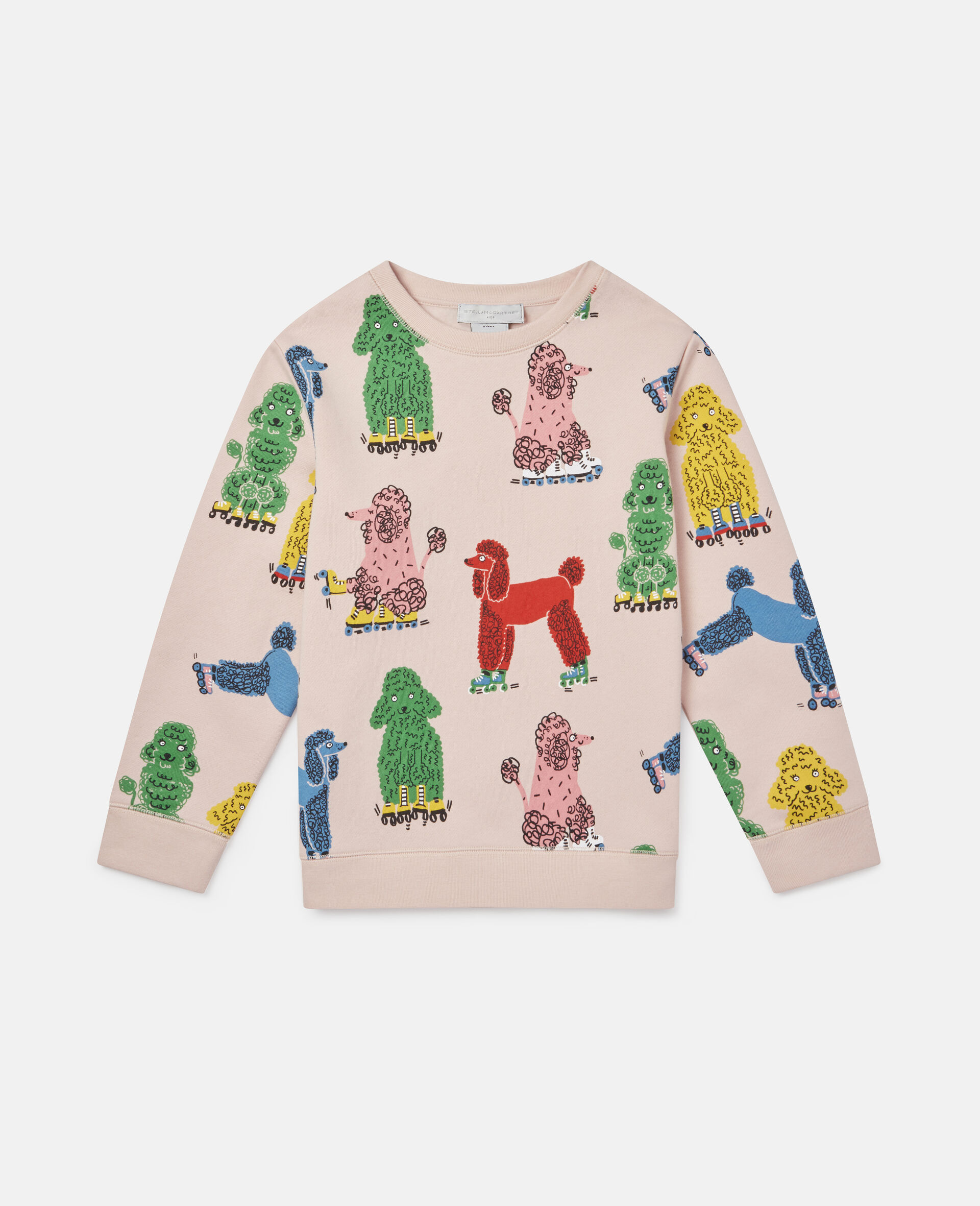 Sweatshirt aus Fleece mit Pudel-Print -Rose-large image number 0