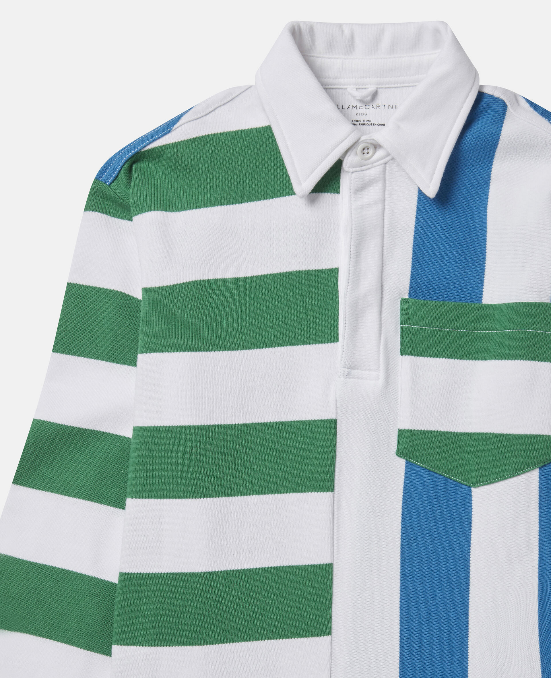 Colourblock Striped Oversized Shirt-Multicolour-large image number 1