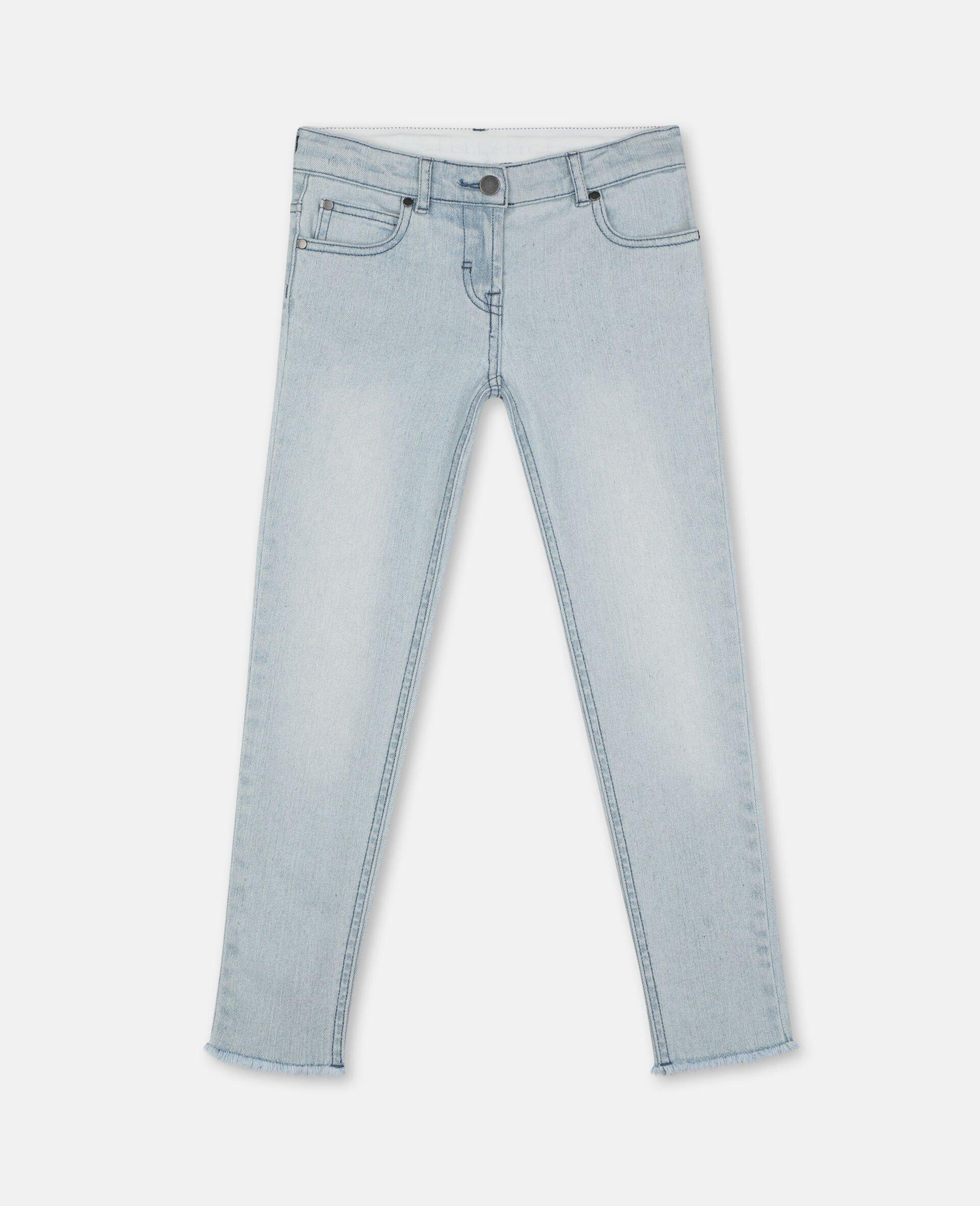 Skinny Denim Pants-Blue-large image number 0