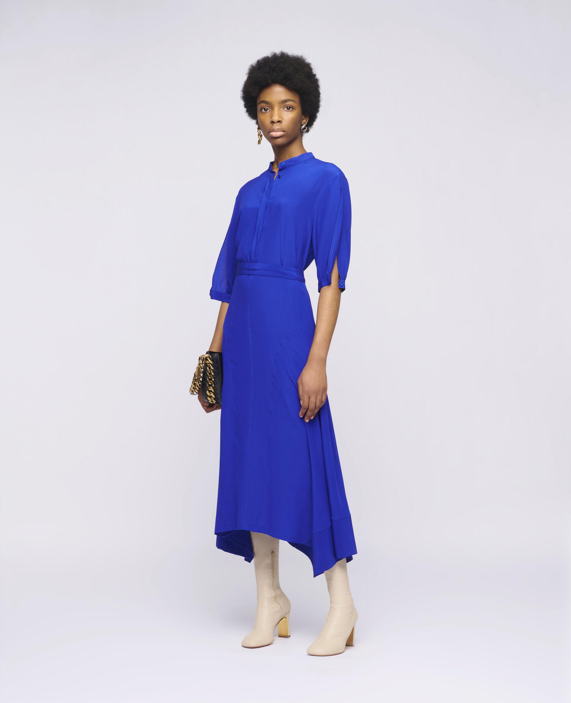 Olivia Silk Dress-Blue-large image number 1