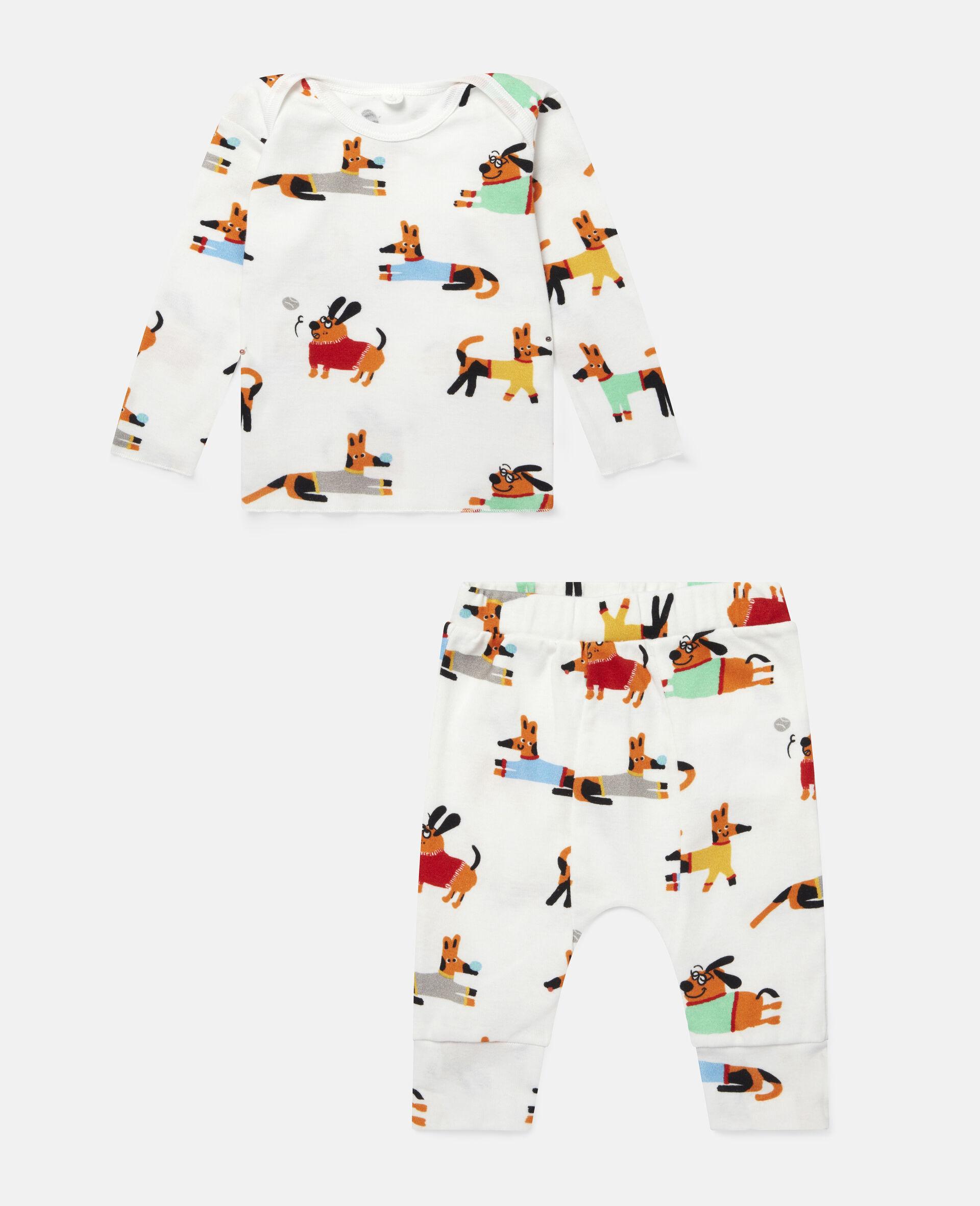 Baby Doggies Jersey Rib Tracksuit-White-large image number 0