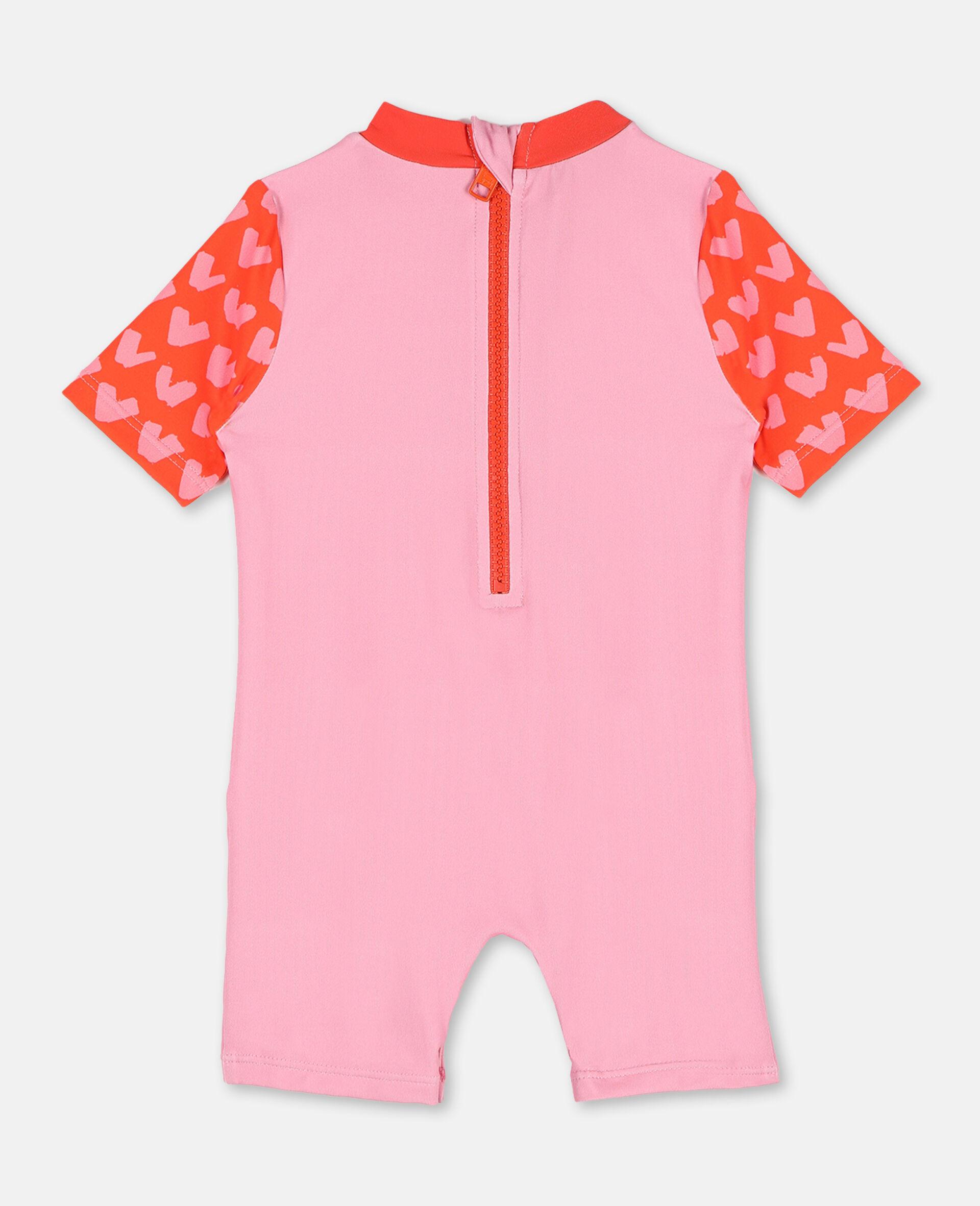 Trompe-L'Oeil Flamingo Swim Jumpsuit -Pink-large image number 4