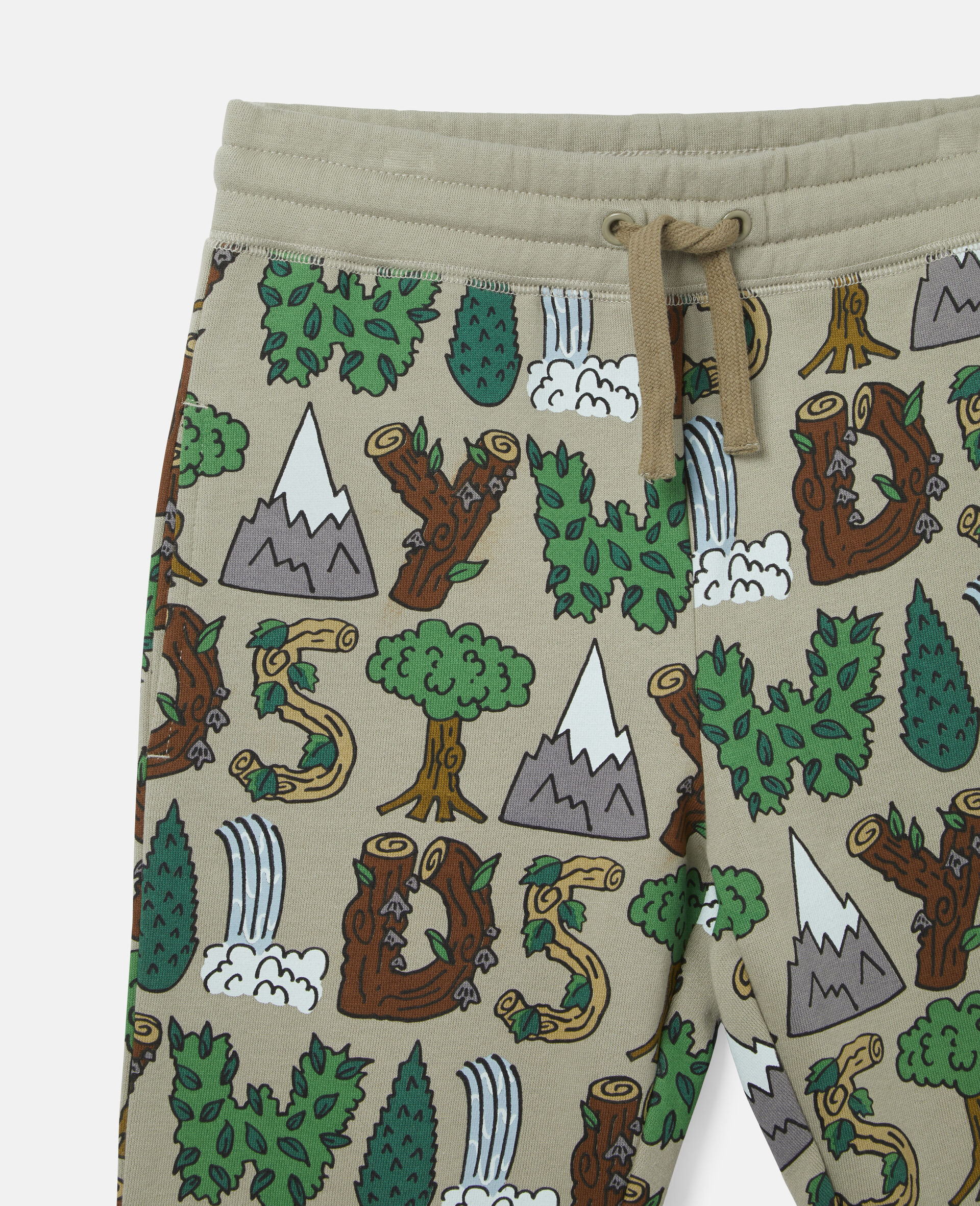'Stay Wild' Fleece Joggers-Multicolour-large image number 1