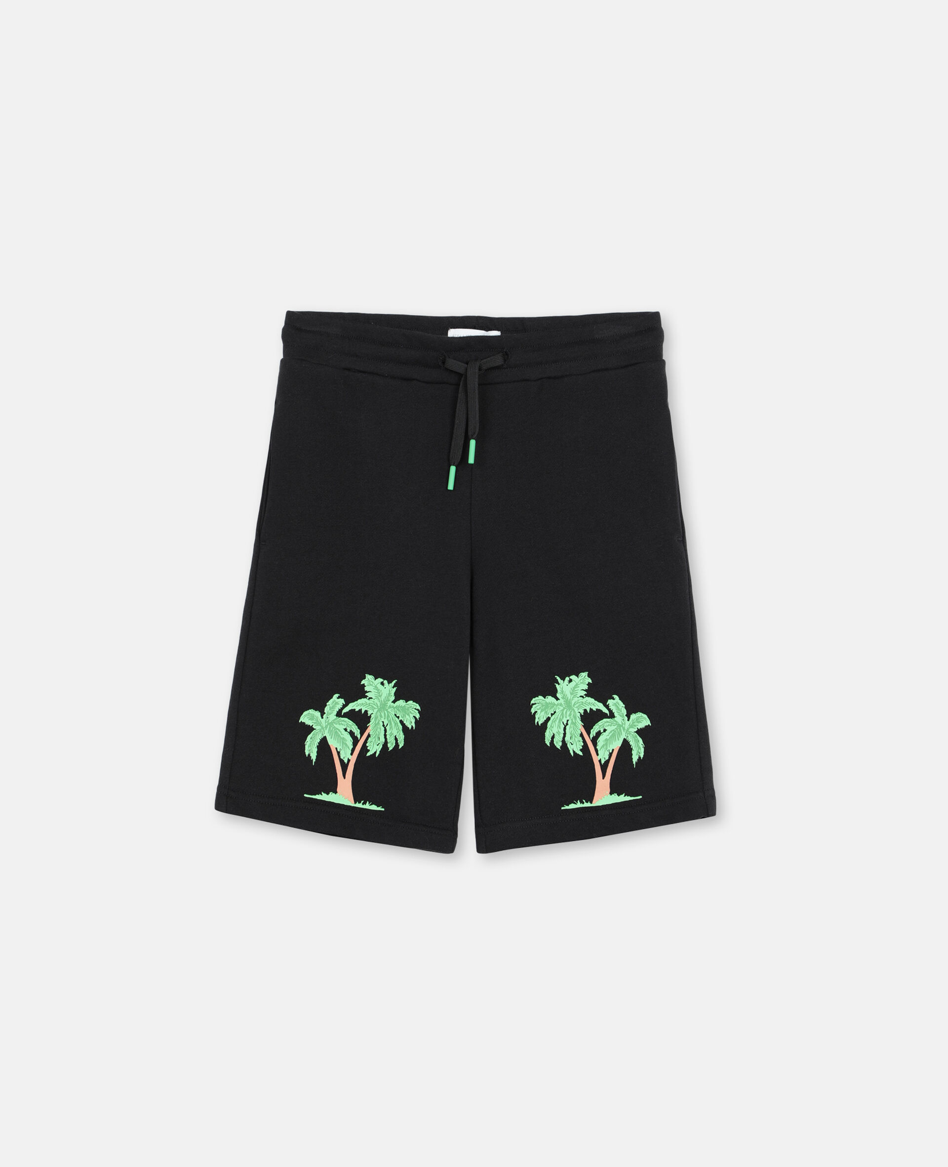 Palm Cotton Shorts -Black-large image number 0