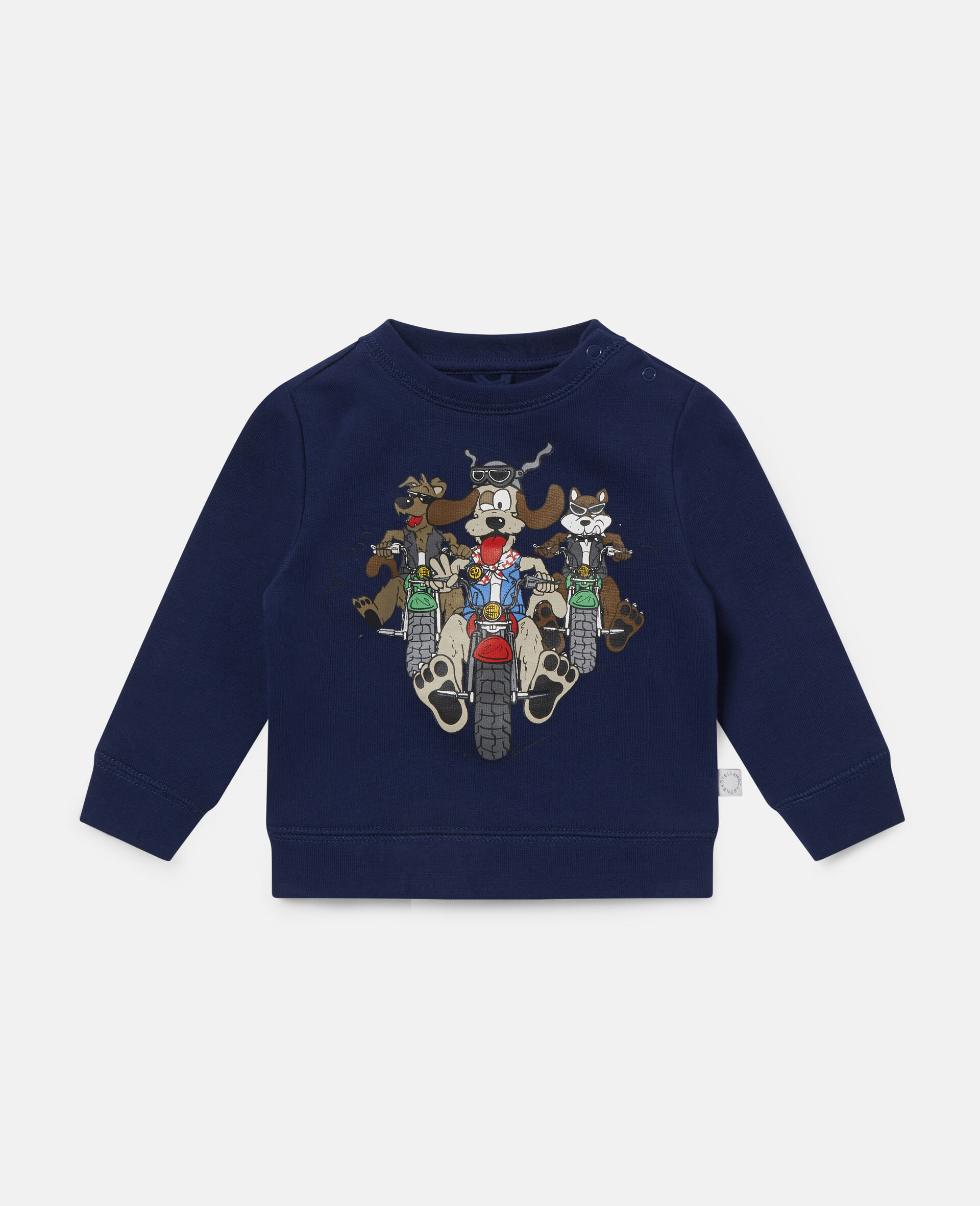 Doggie Riders Fleece Sweatshirt-Blue-large image number 0