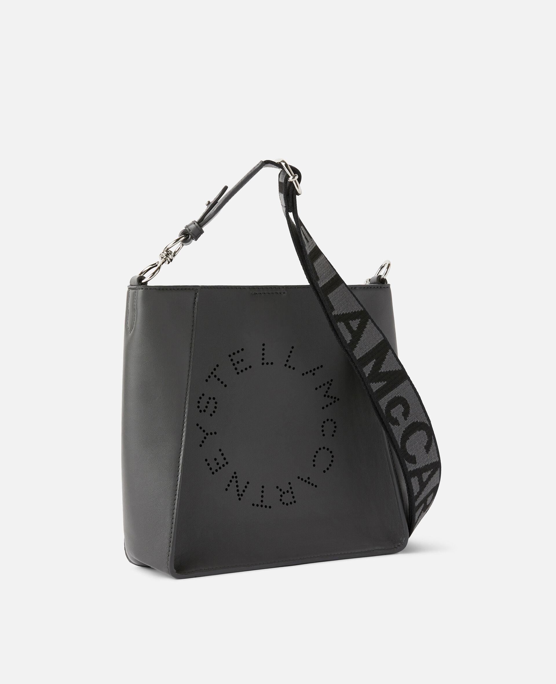 Borsa a spalla con Logo Stella-Grigio-large image number 1