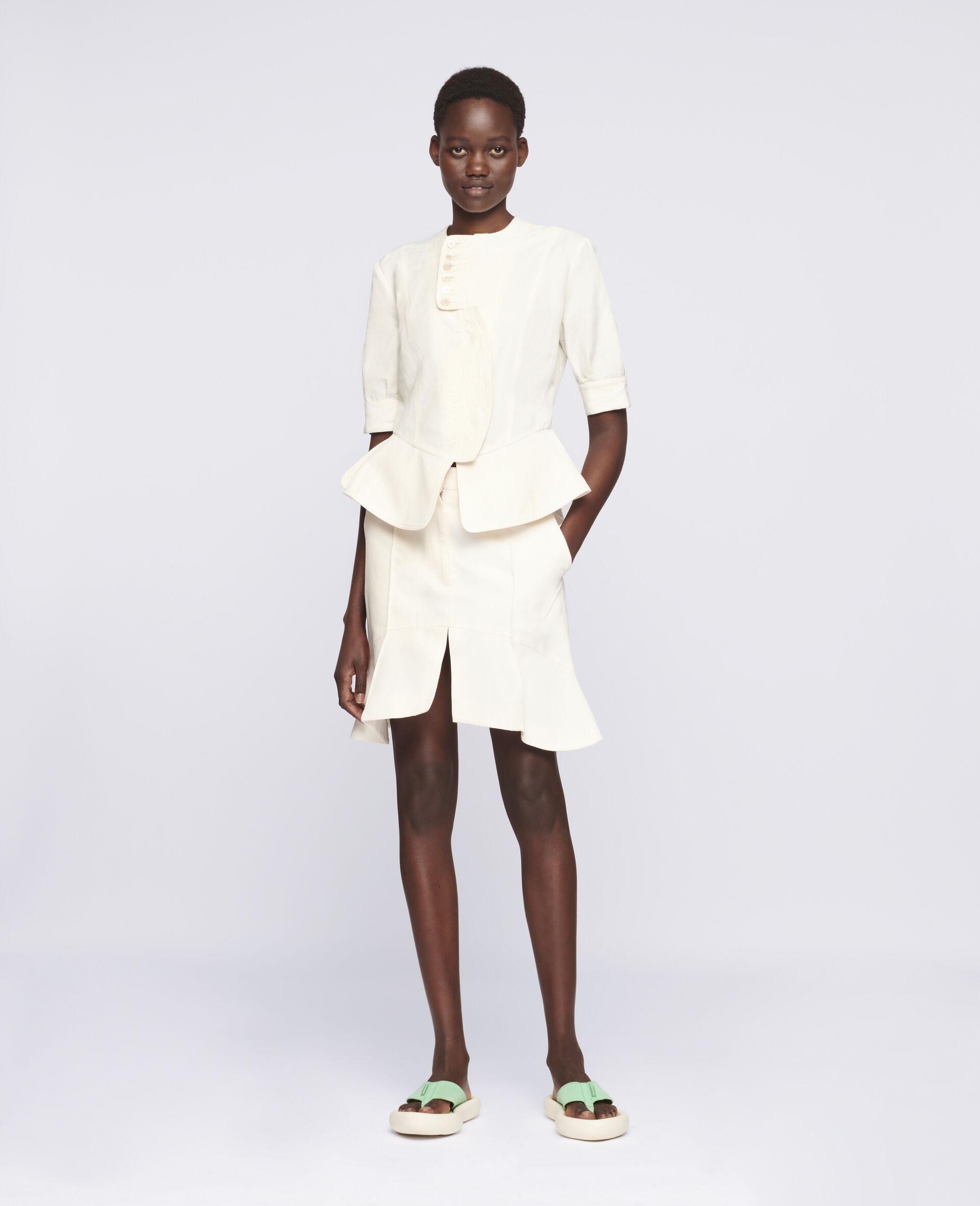 Arabella Mini Skirt-White-large image number 1