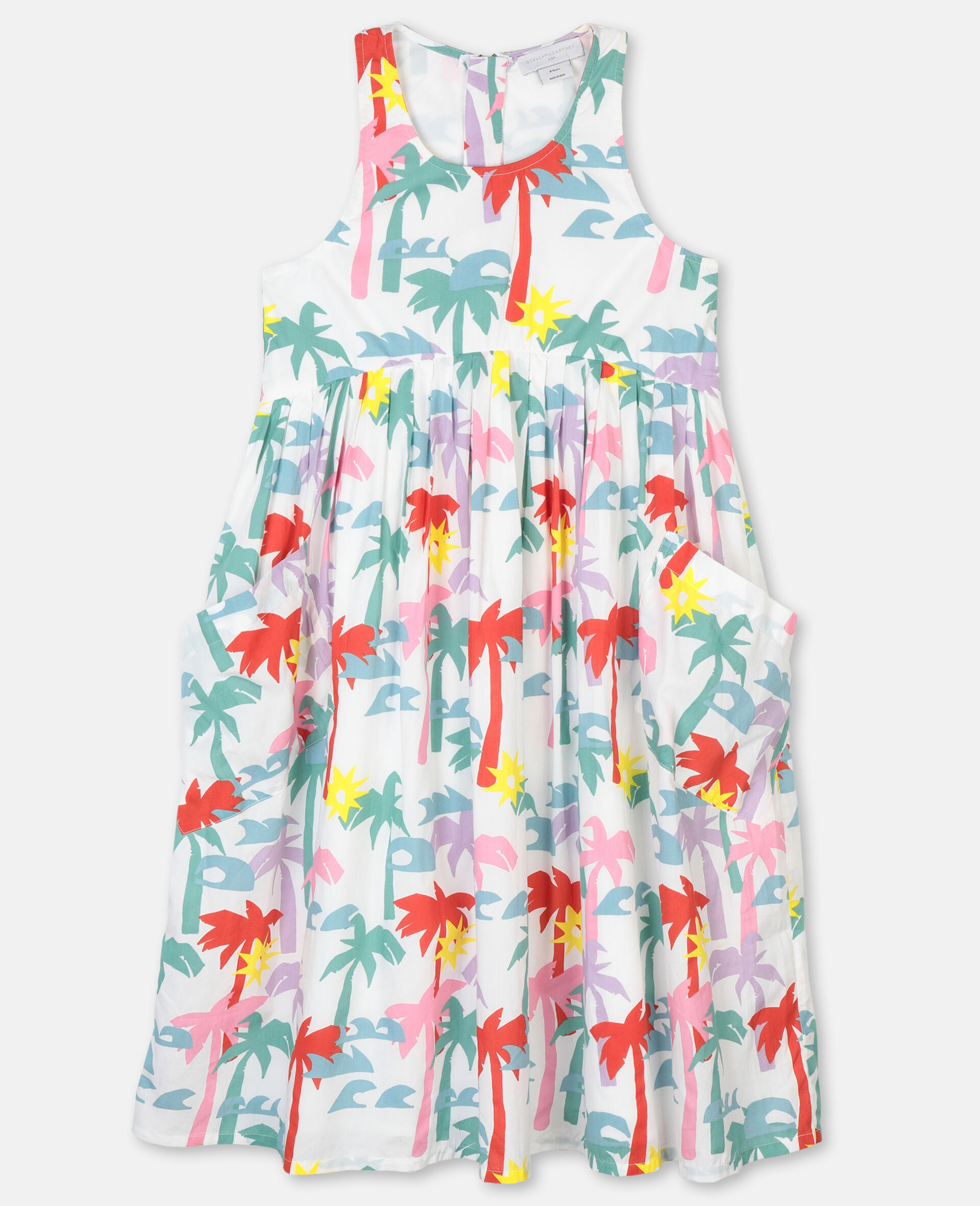 Palms Cotton Dress-Multicolour-large image number 0