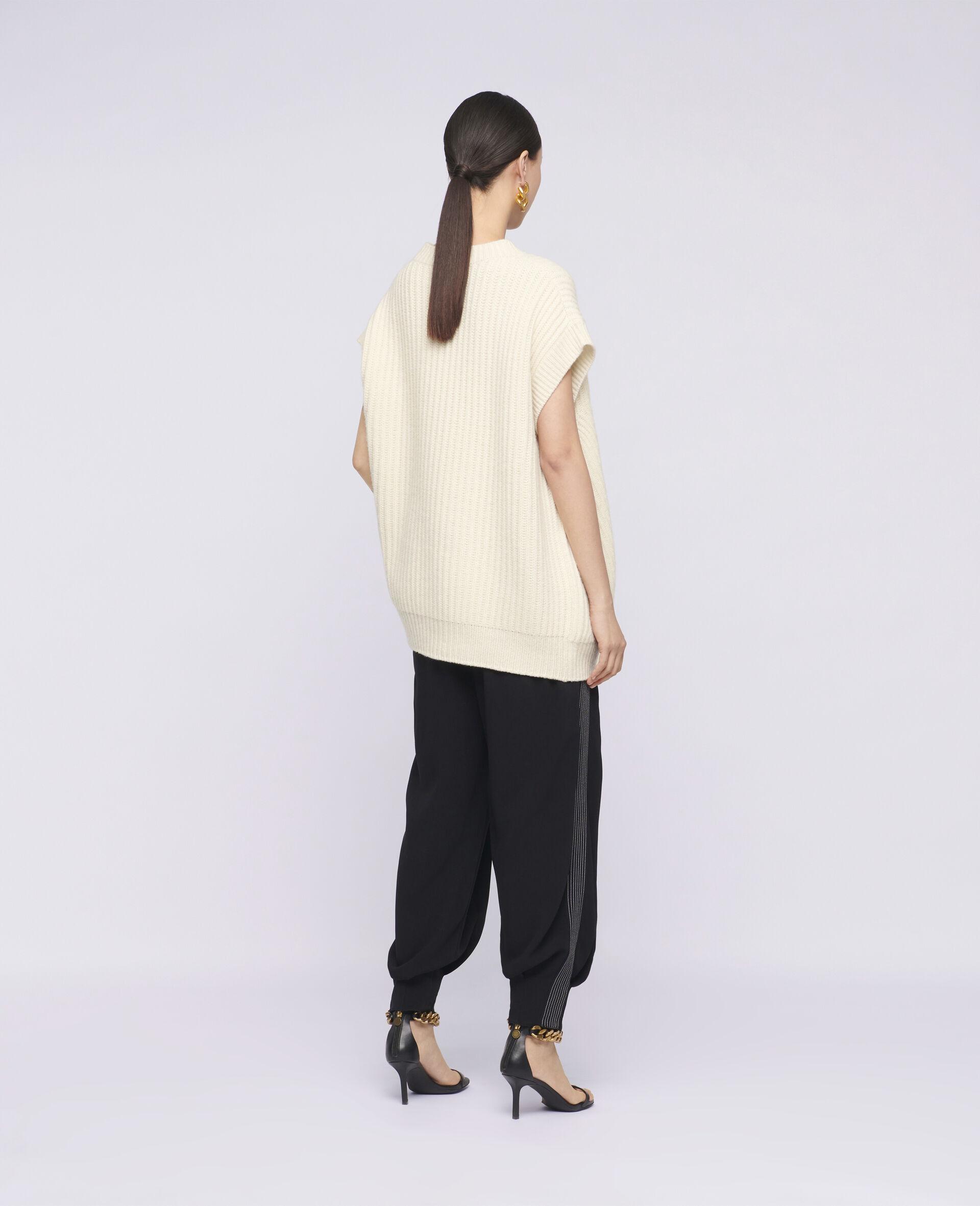 柔软无袖针织衫-米色-large image number 2