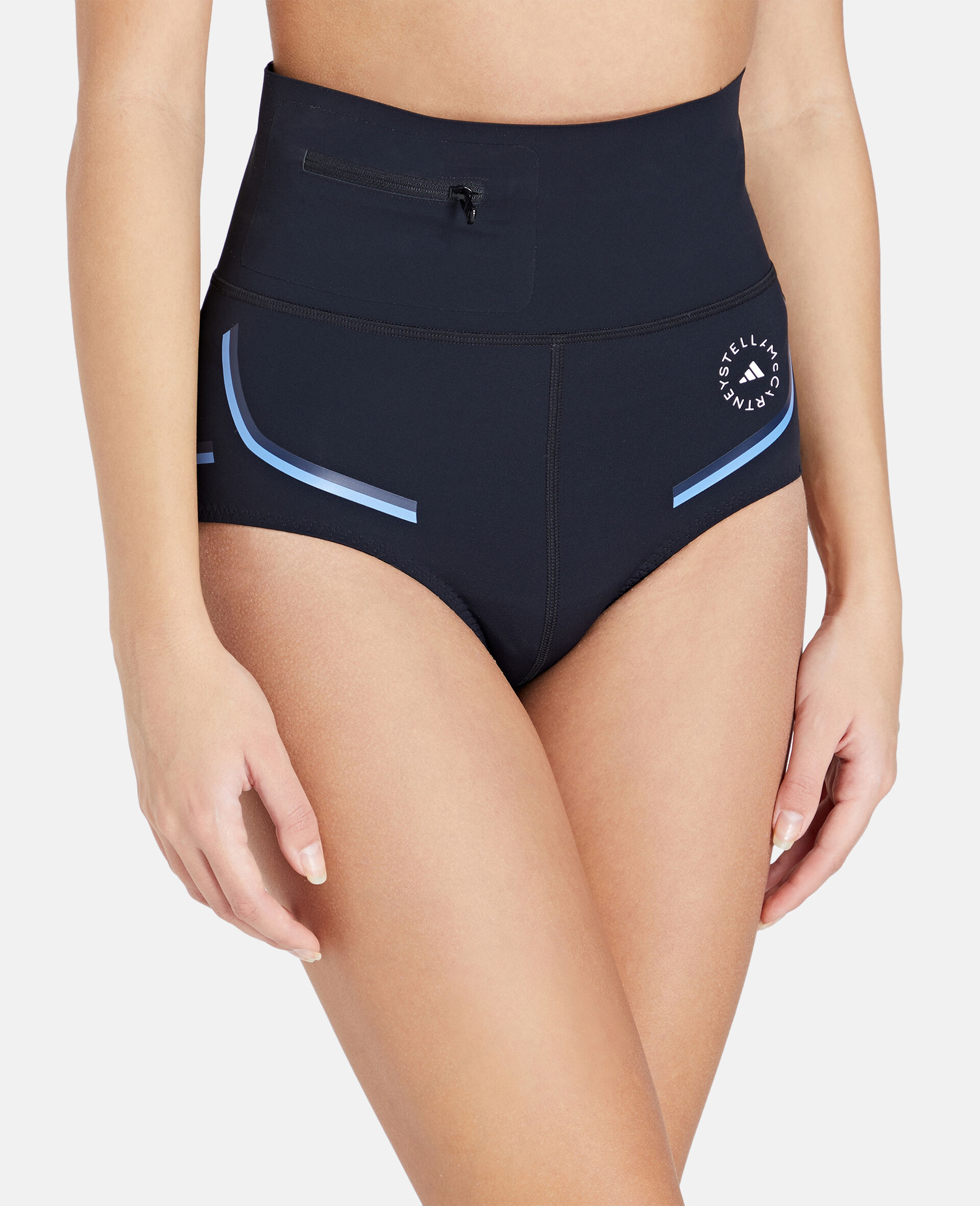 Black Beach Defender Bikini Shorts-Black-large image number 3