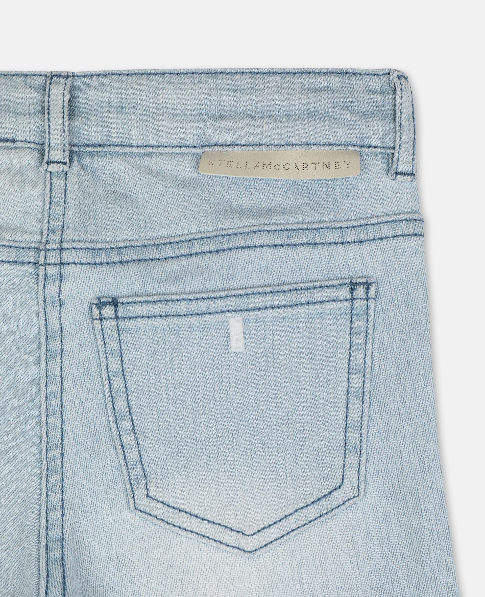 紧身牛仔裤-蓝色-large image number 2