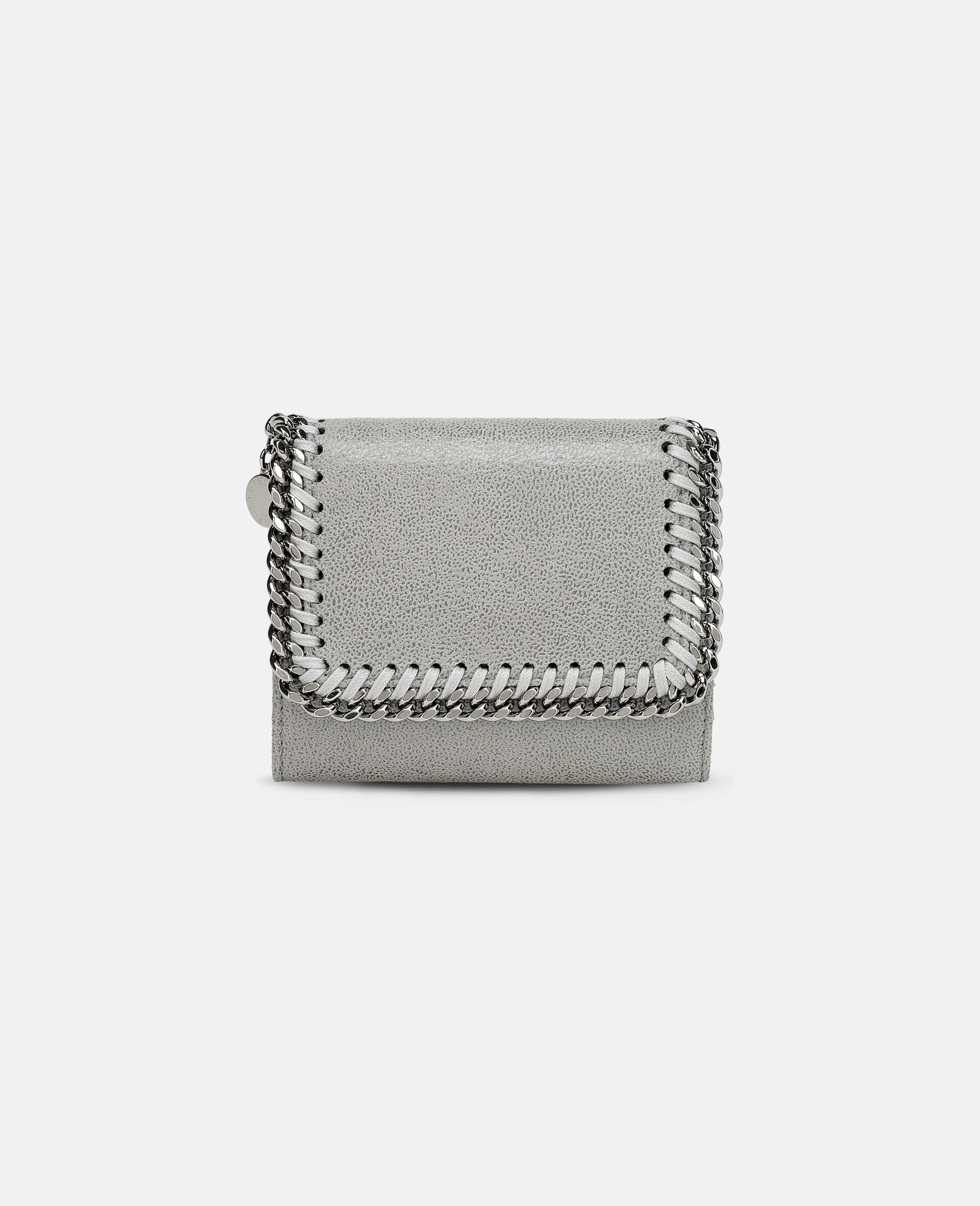 Falabella Small Flap Wallet-Grey-large