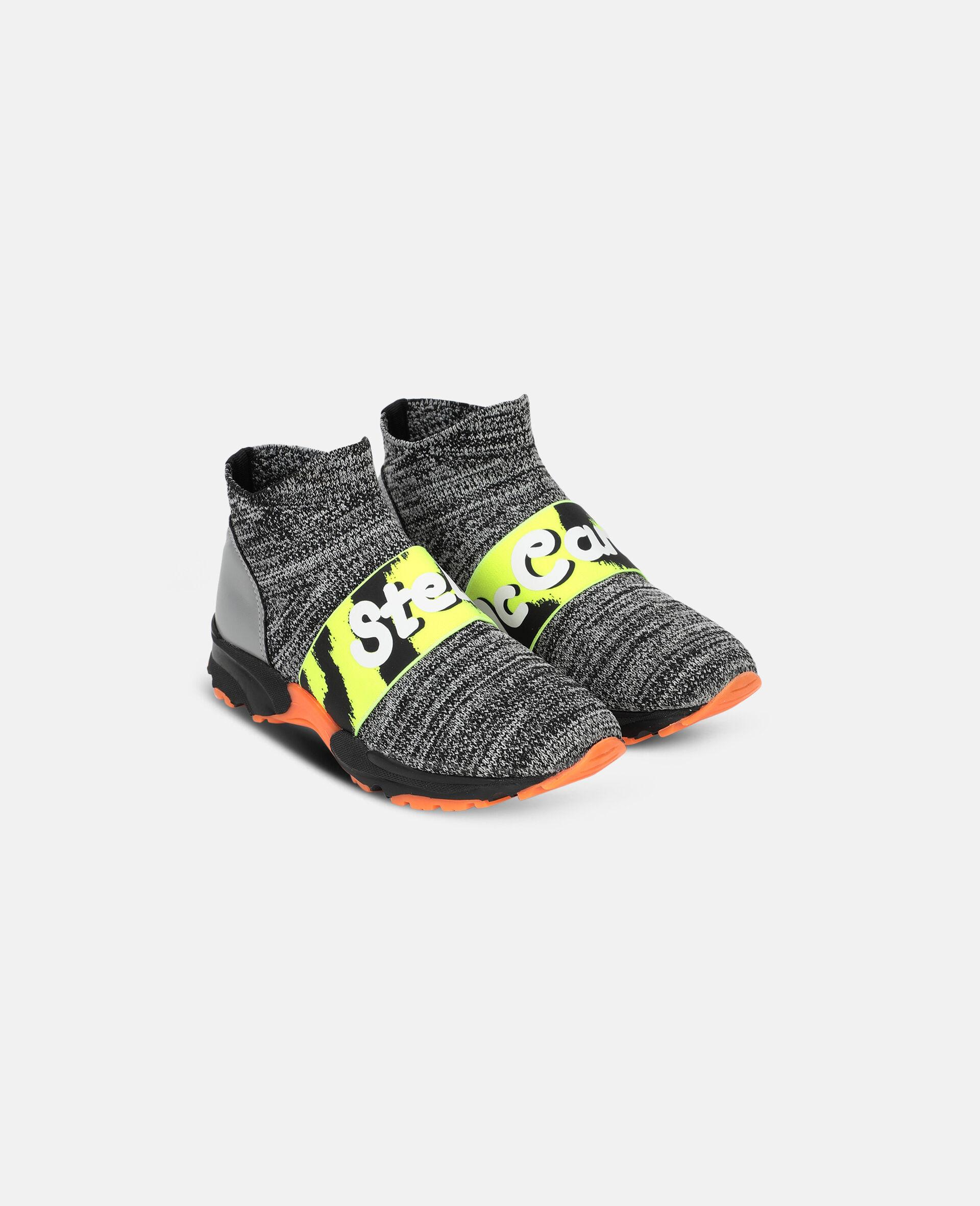 Logo Tape Sport Sneakers -Grey-large image number 3