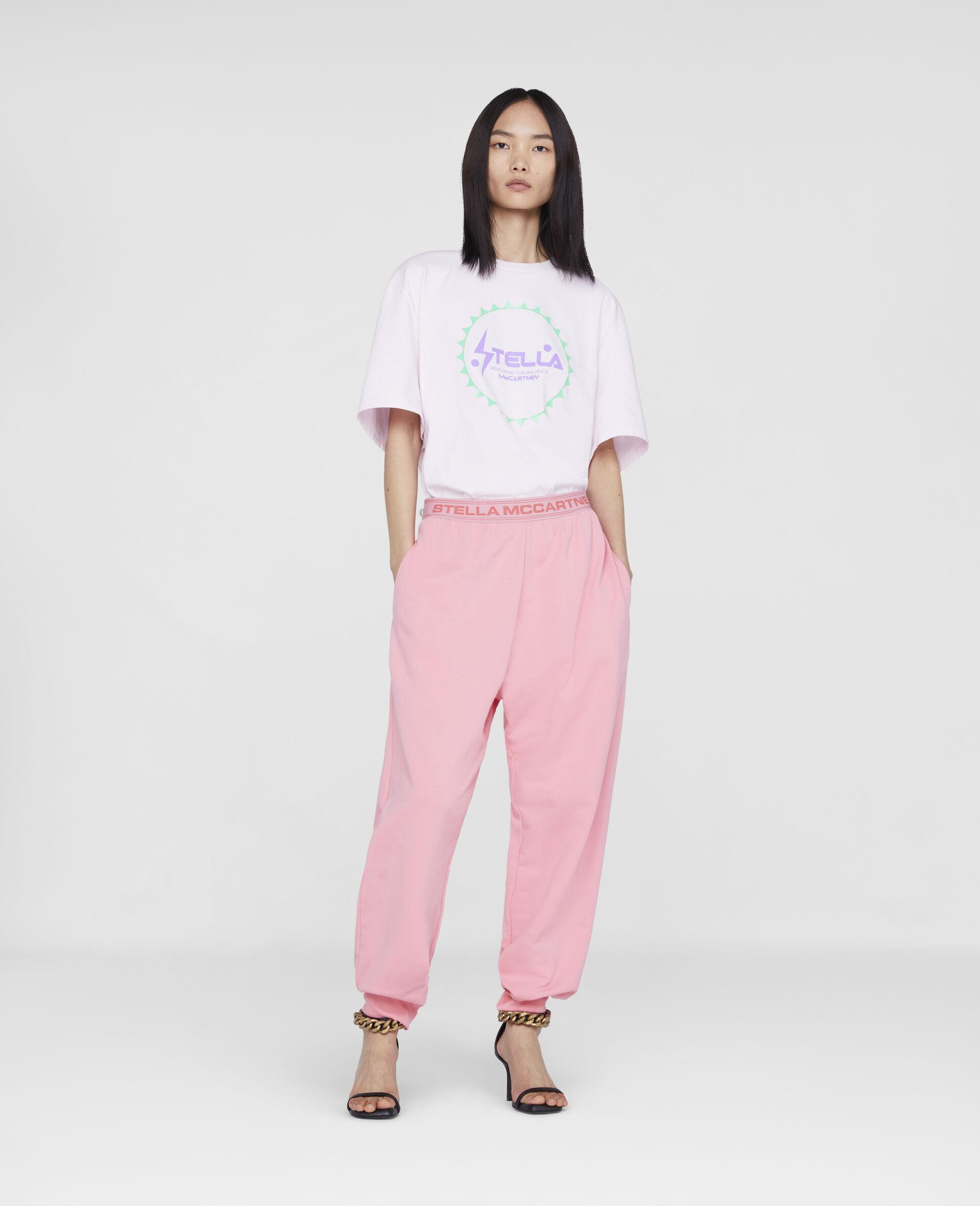 Stella Logo Tape Sweatpants-Pink-large image number 3