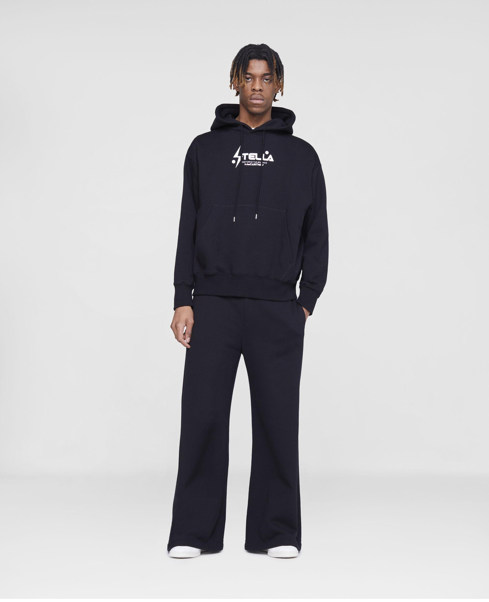 Stella Logo Sweatpants -Black-large image number 3