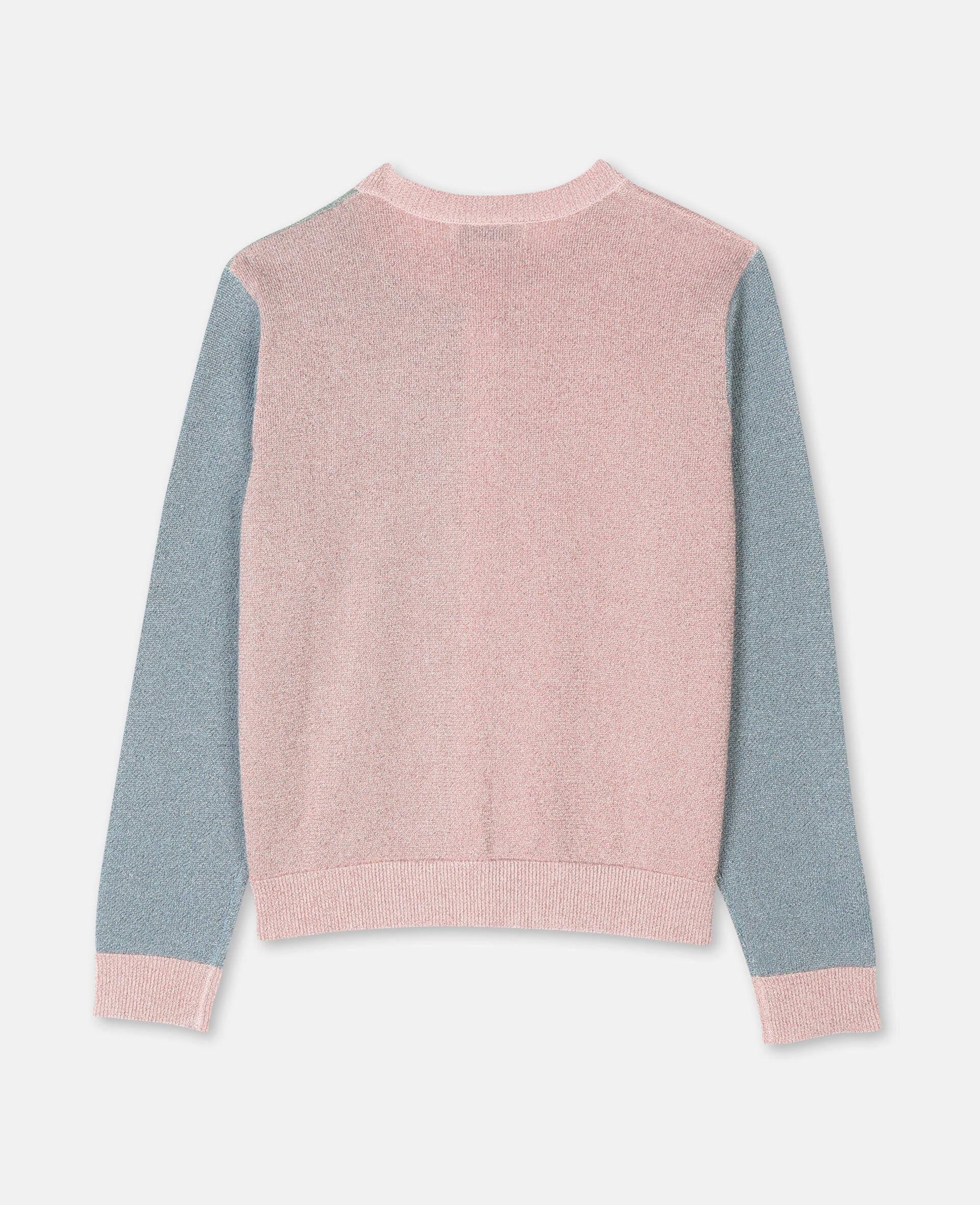 Multicolor Knit Cardigan -Pink-large image number 3