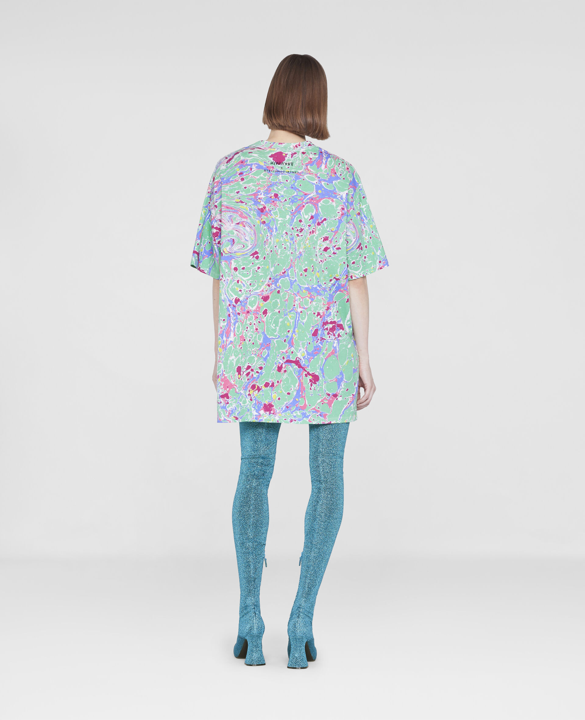 Myfawnwy Printed  T-Shirt Dress-Multicolour-large image number 2