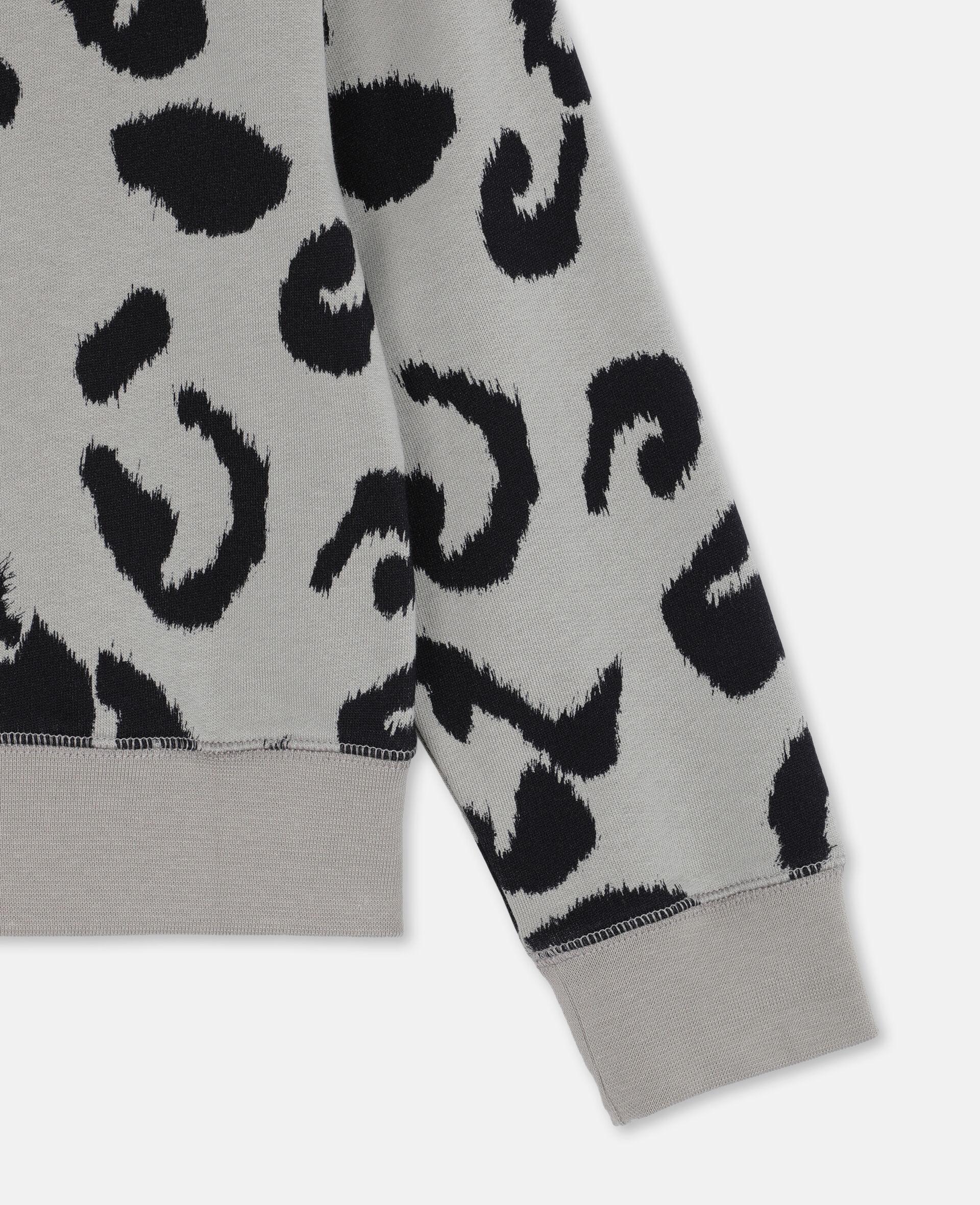 Leopard Cotton Fleece Sweatshirt -Multicoloured-large image number 2