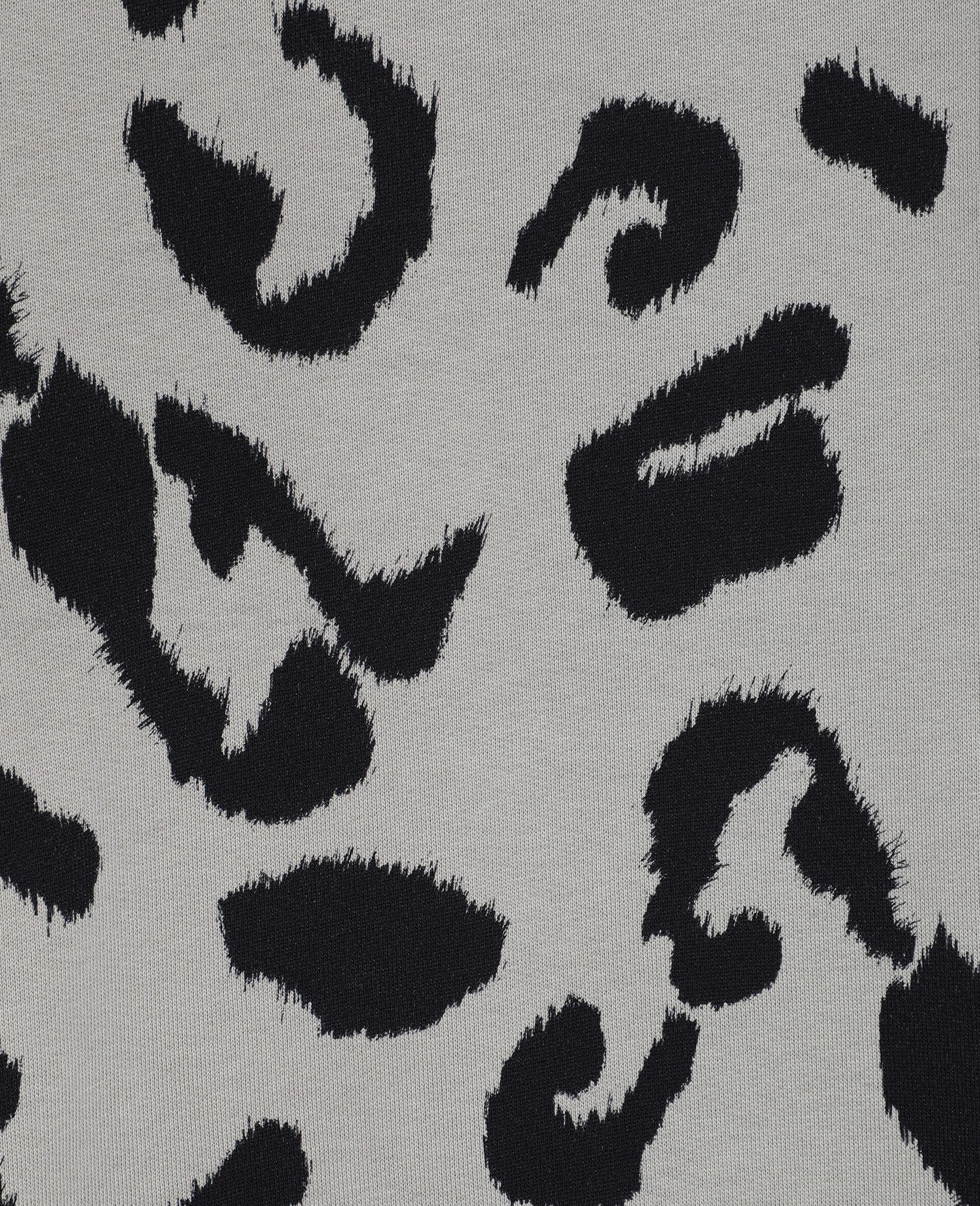 Sweat-shirt en molleton de coton léopard -Fantaisie-large image number 1