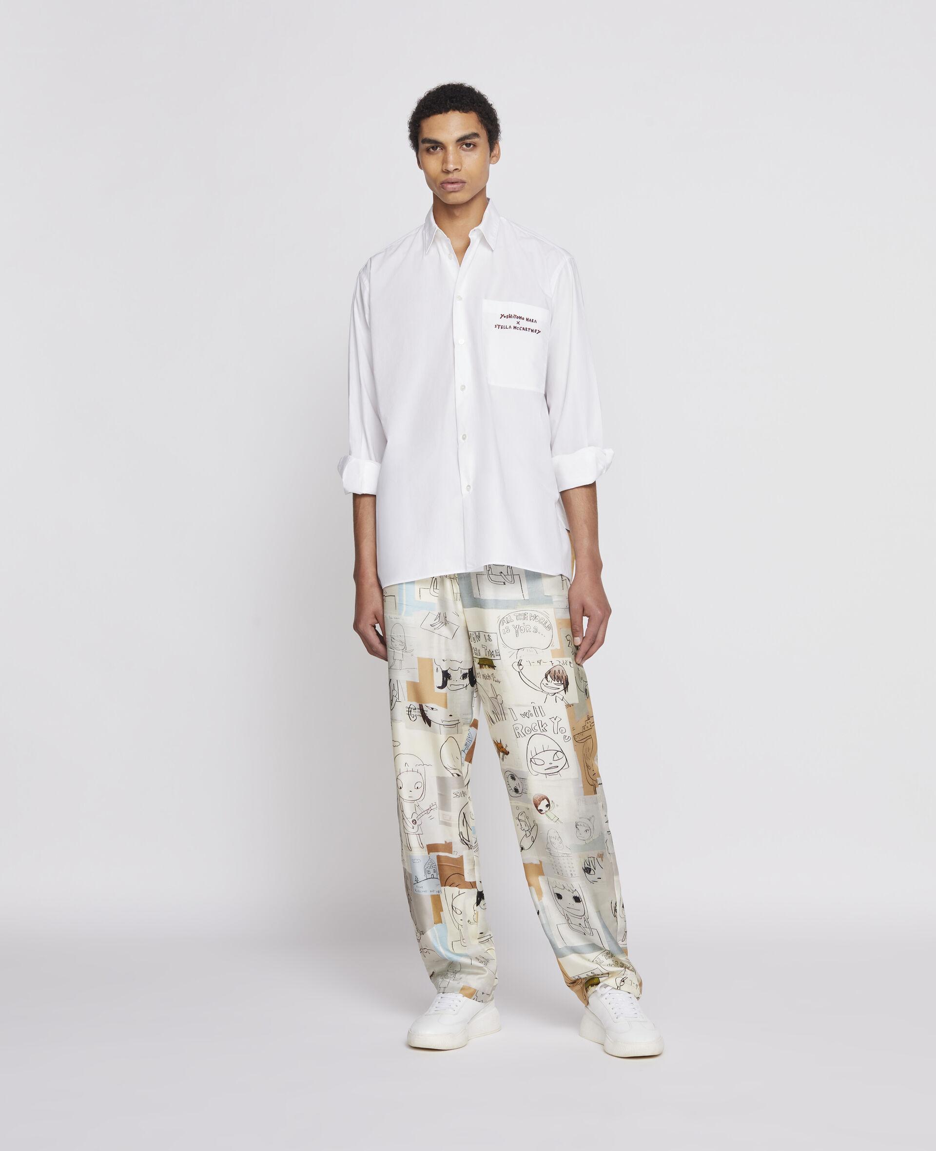 Nara Cotton Shirt-White-large image number 1