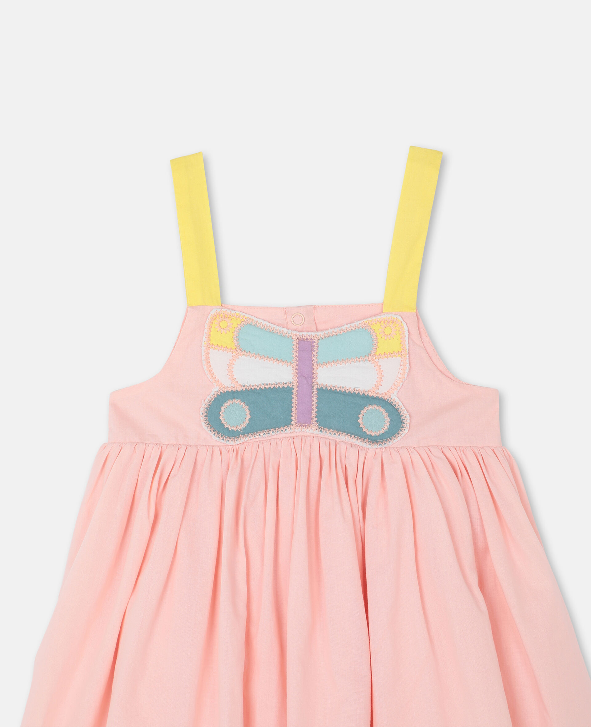 Butterfly Patch Cotton Dress -Pink-large image number 1