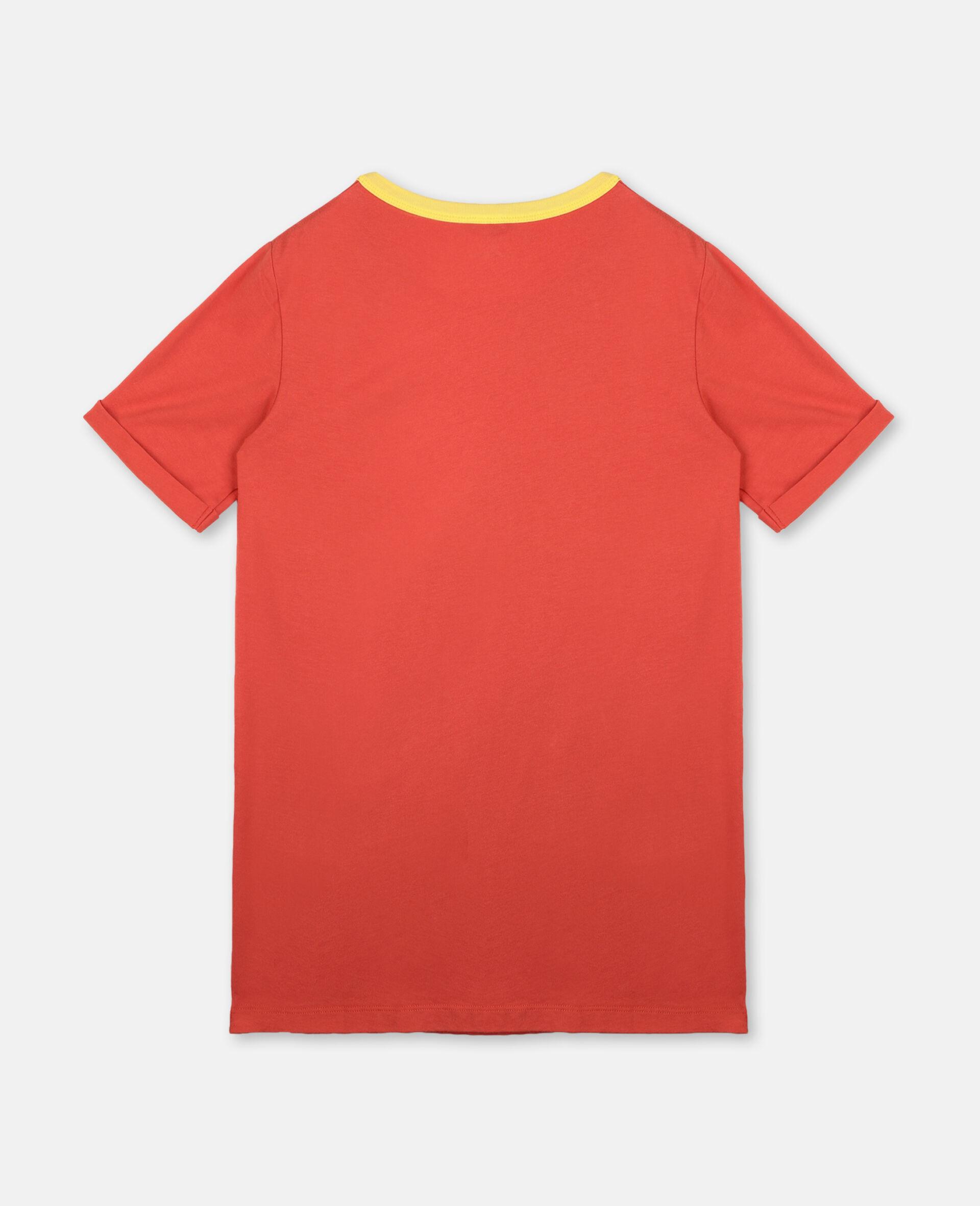 Star & Fringe Cotton Dress-Red-large image number 3
