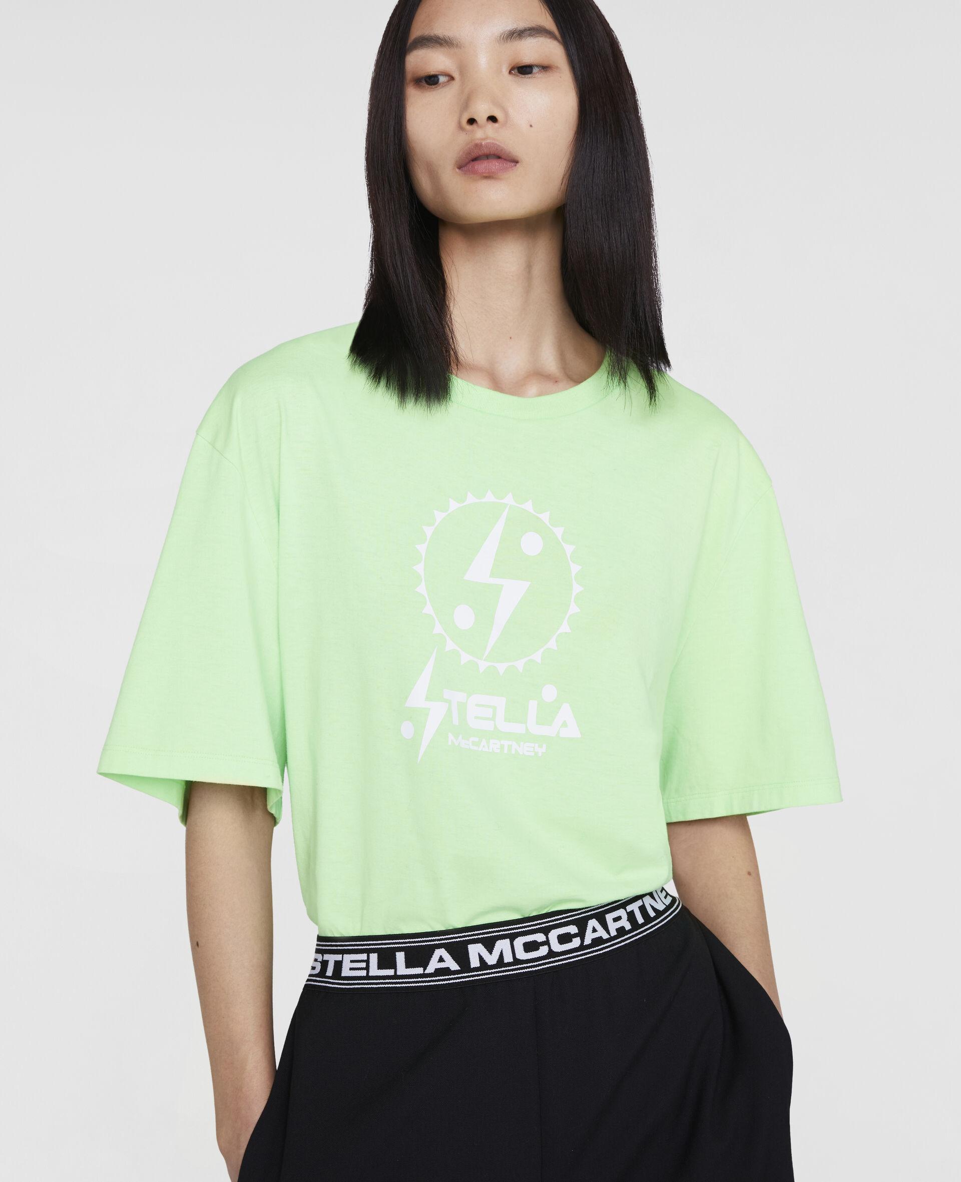 T-Shirt con Logo Stella Tom Tosseyn-Verde-large image number 4