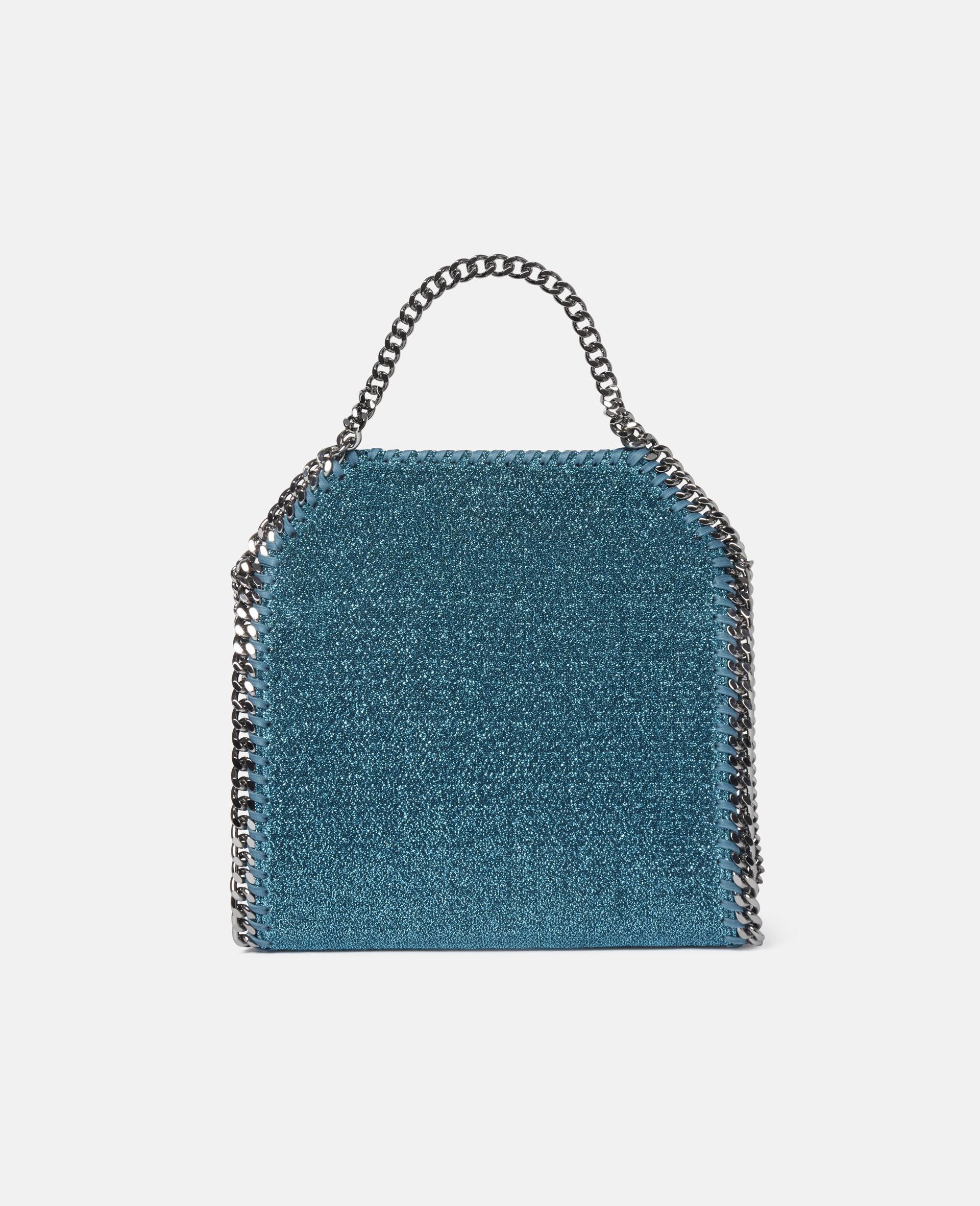 Falabella Mini Tote Bag aus glitzerndem Lurex-Blau-large image number 2