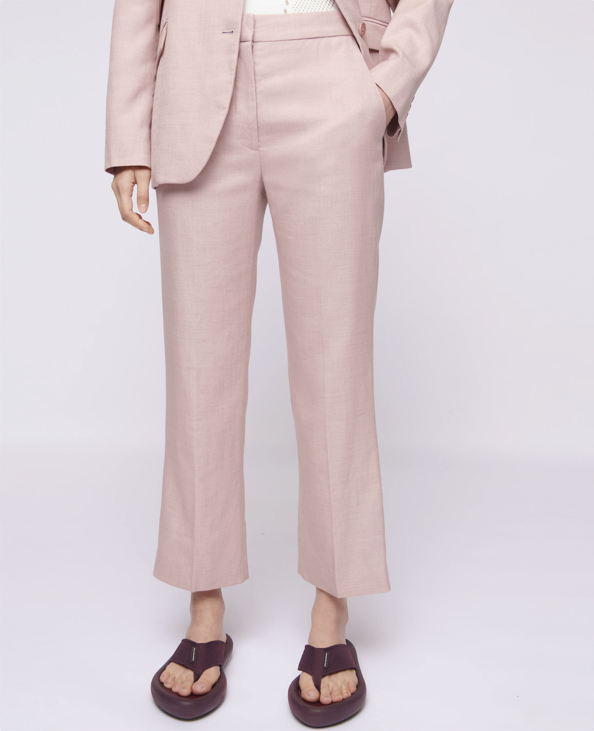 Carlie Tailored Trousers-Pink-large image number 3