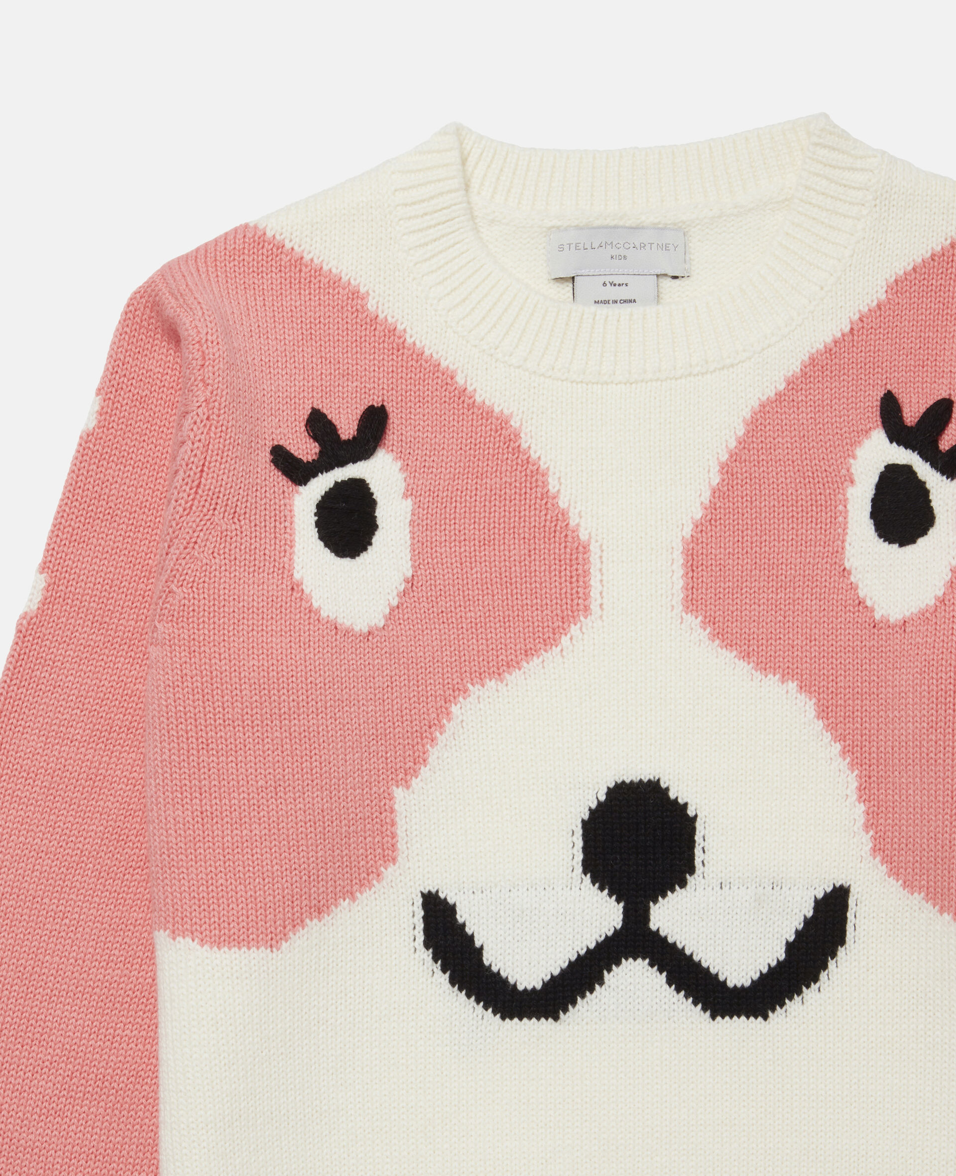 Doodle Dog Intarsia Sweater -White-large image number 1