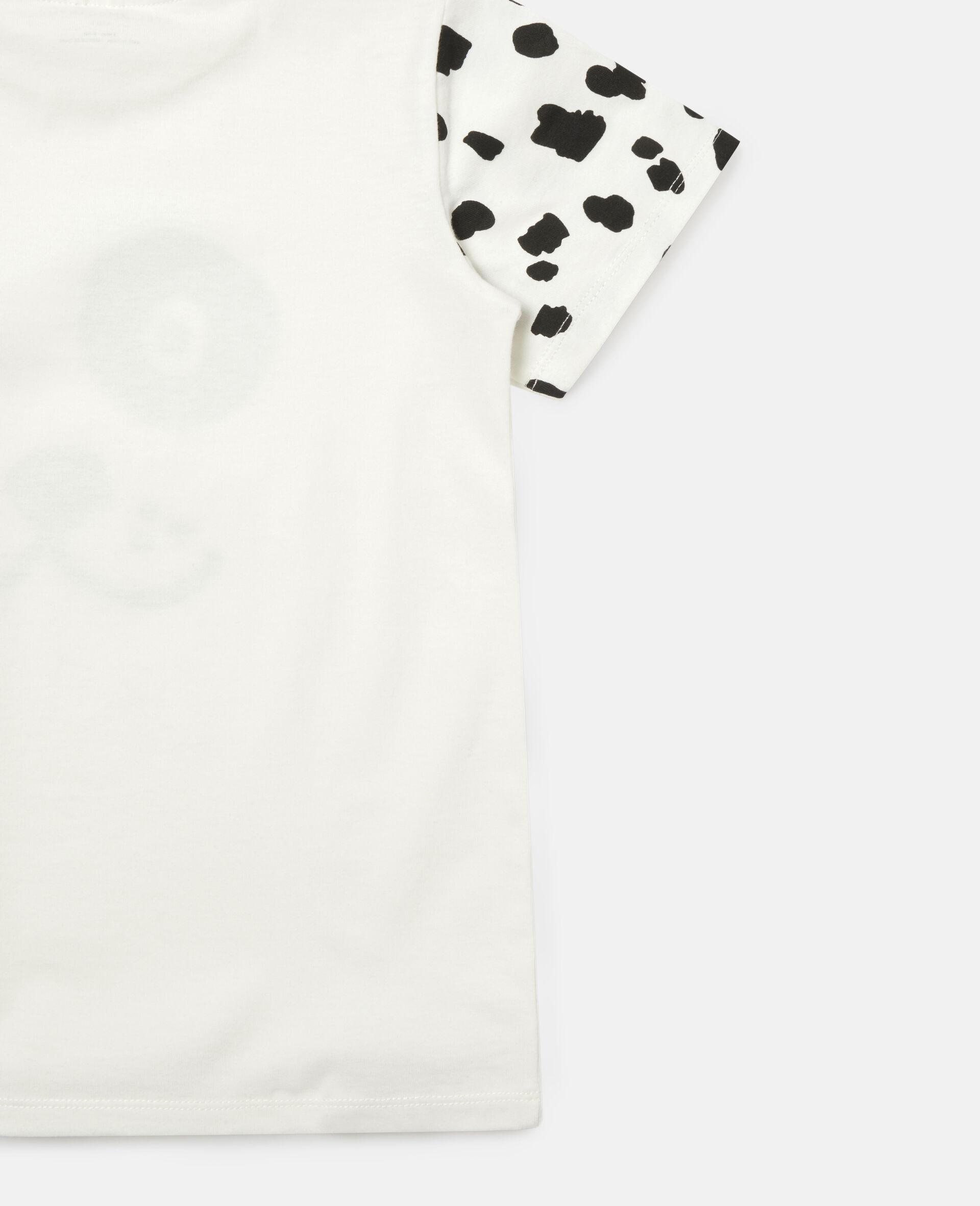 Dalmatian Cotton T-shirt -White-large image number 1