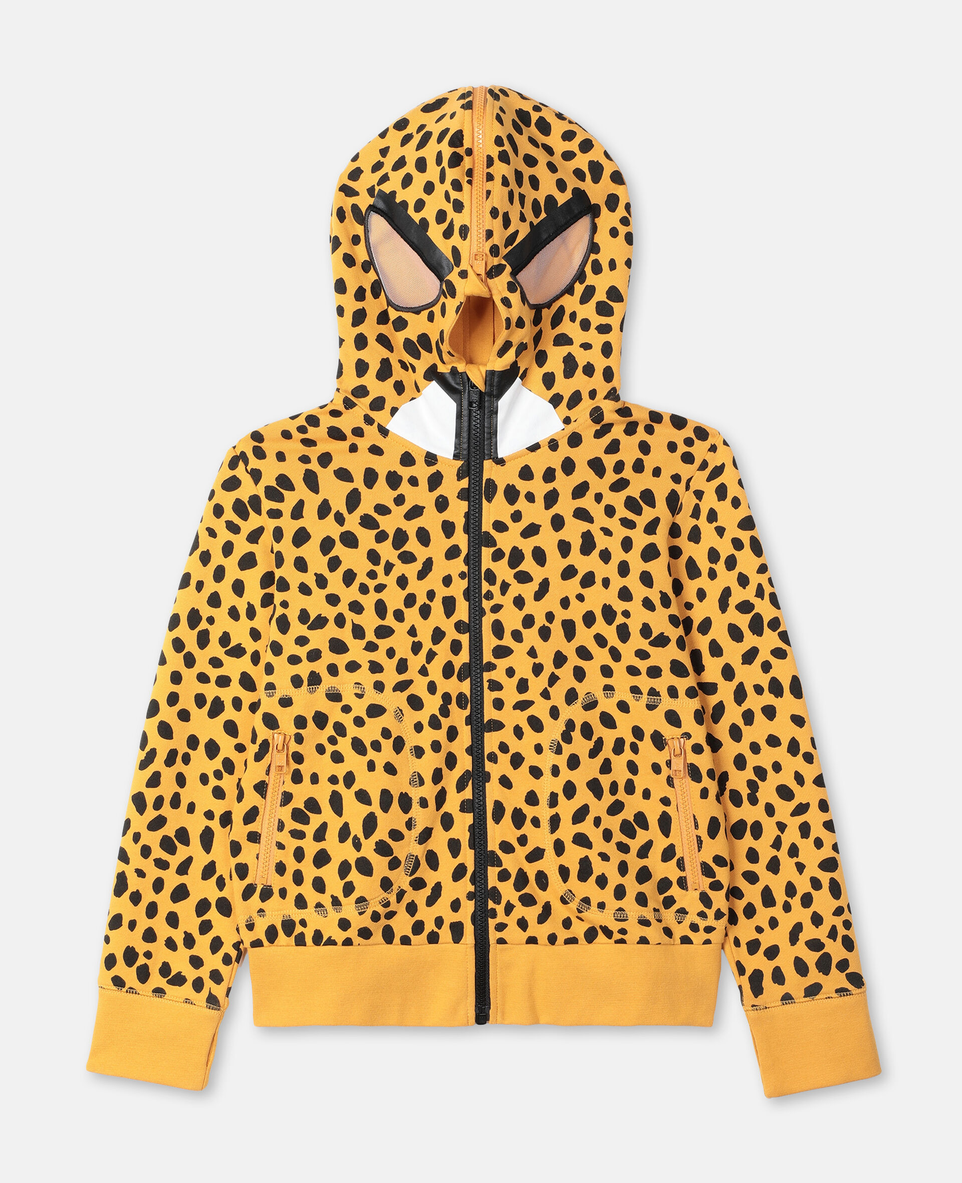 Cheetah Dots Cotton Hoodie -Multicoloured-large image number 0